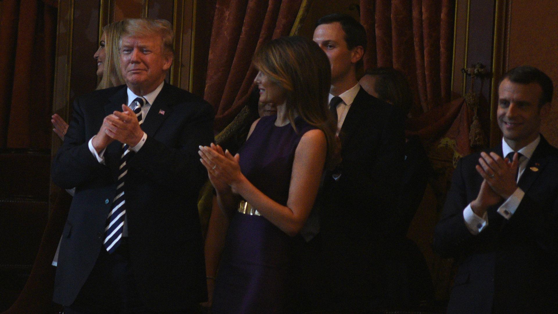 Trump y Melania tras el show