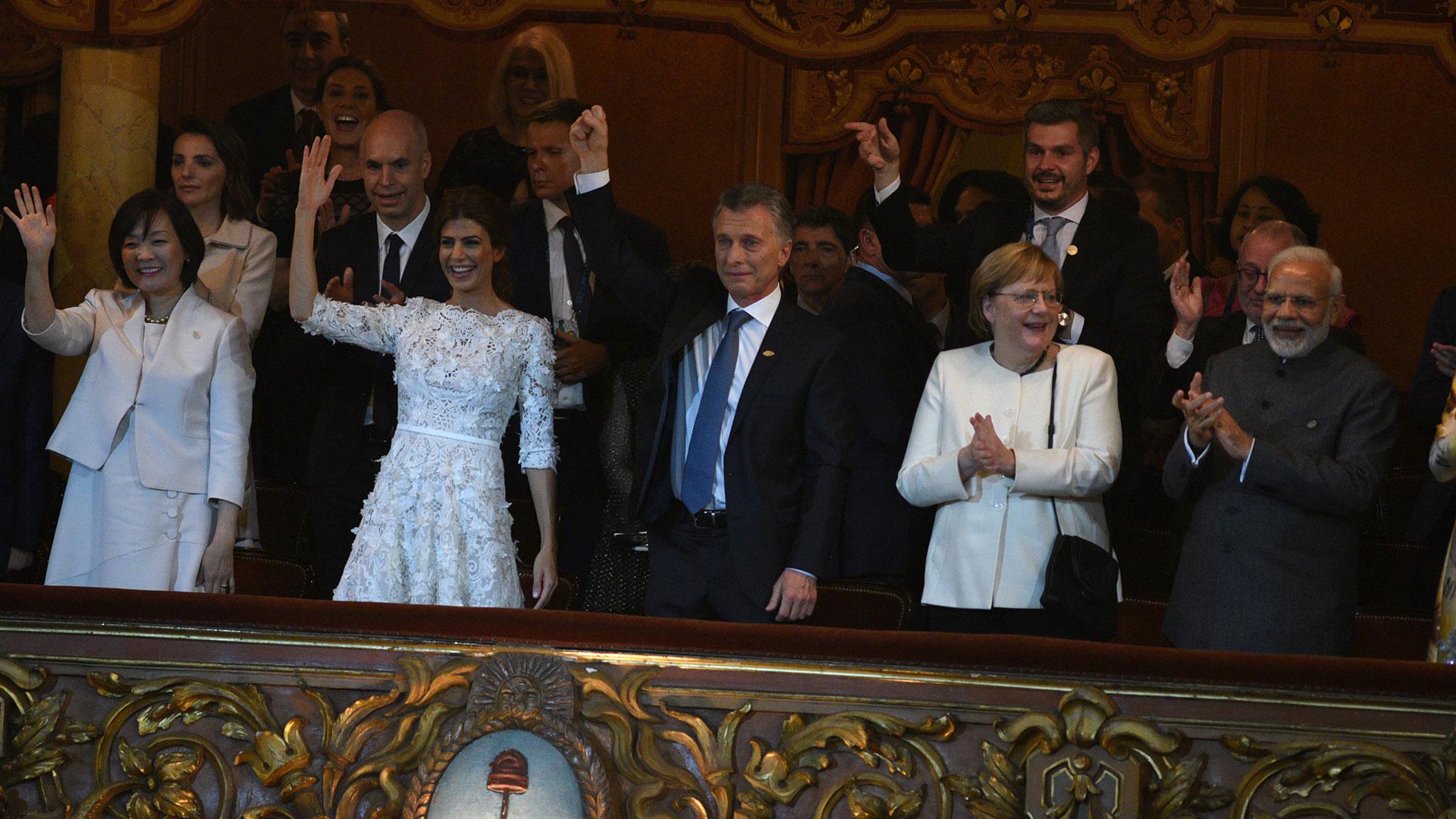 La emoción de Macri en el final del espectáculo