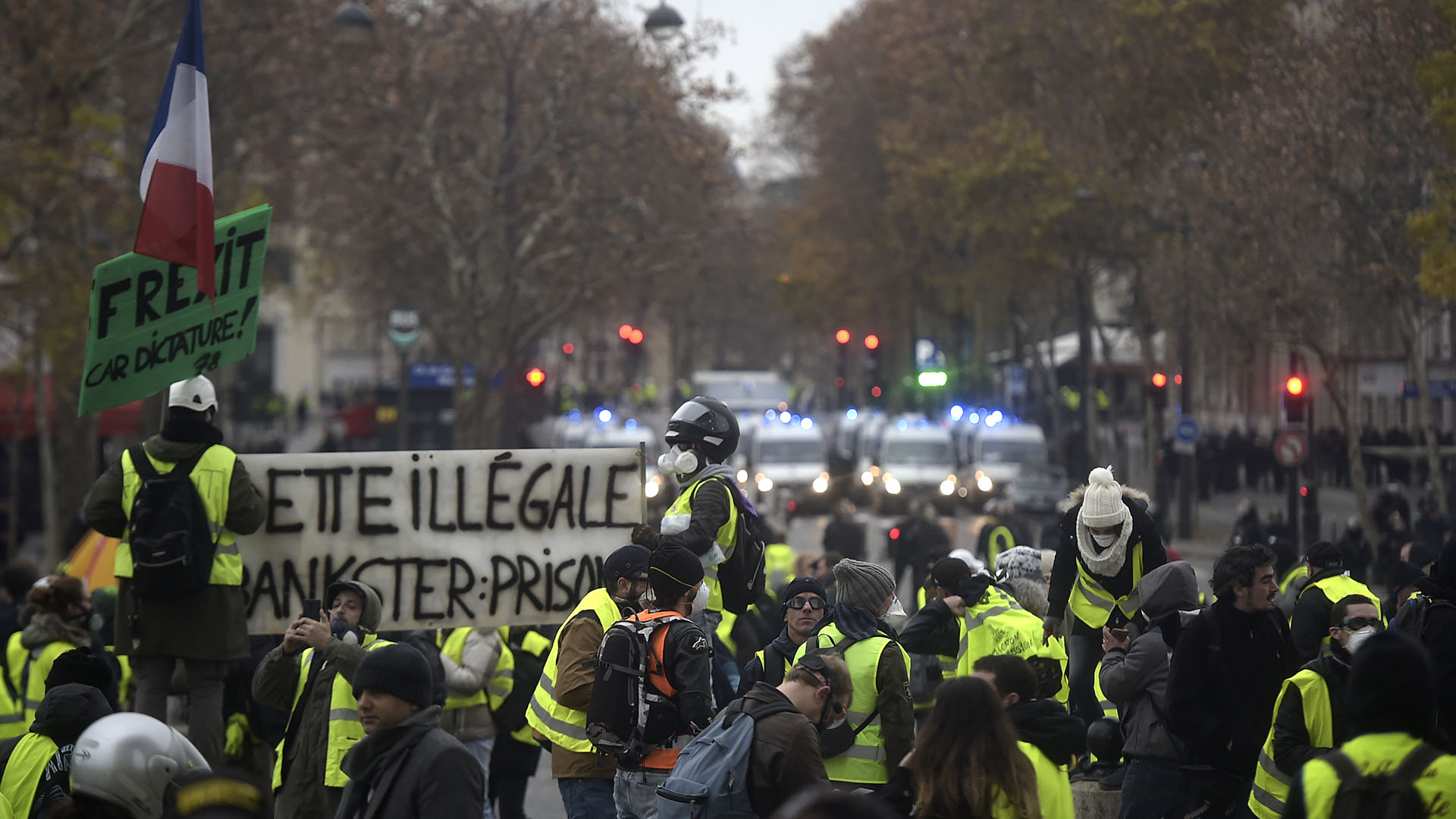 Esta nueva manifestación es ahora observada con recelo por el ejecutivo de Macron, que accedió a la presidencia francesa hace solamente 18 meses y cuya popularidad cae de forma imparable (Lucas BARIOULET / AFP)