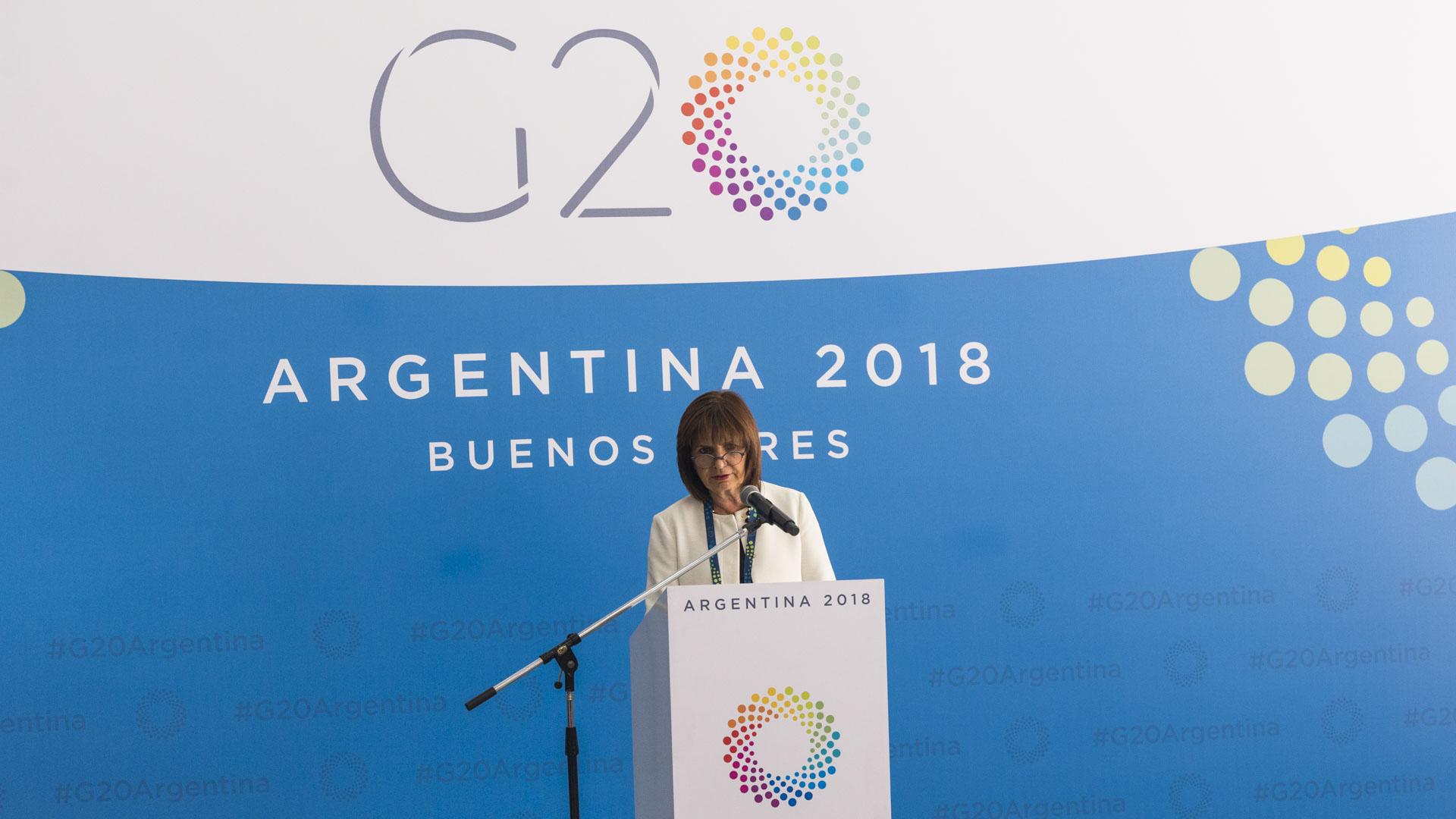 Patricia Bullrich, ministra de Seguridad (Julieta Ferrario)