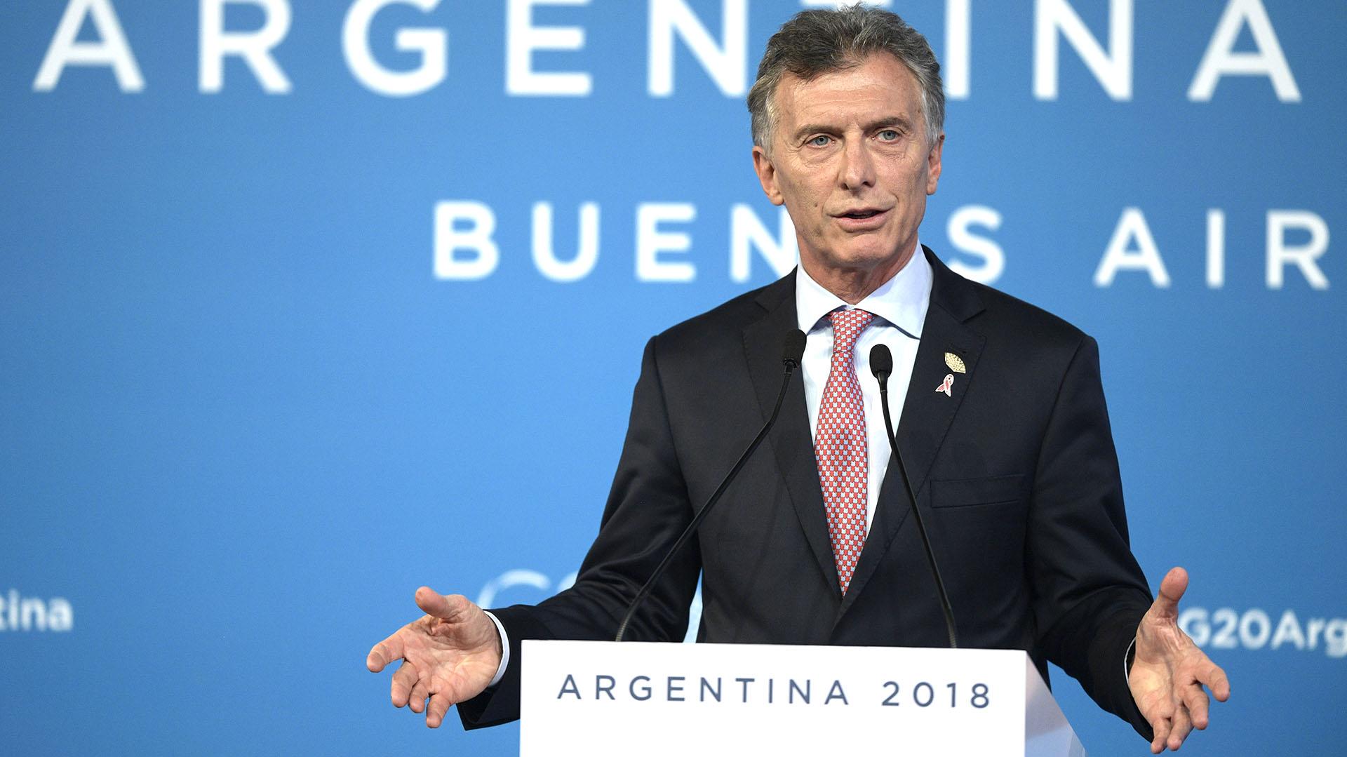 El presidente Mauricio Macri (foto de Juan Mabromata / AFP)