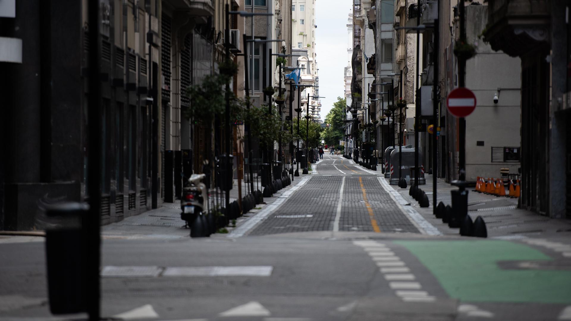 Las calles del microcentro porteño estuvieron desiertas este sábado por el operativo del G20