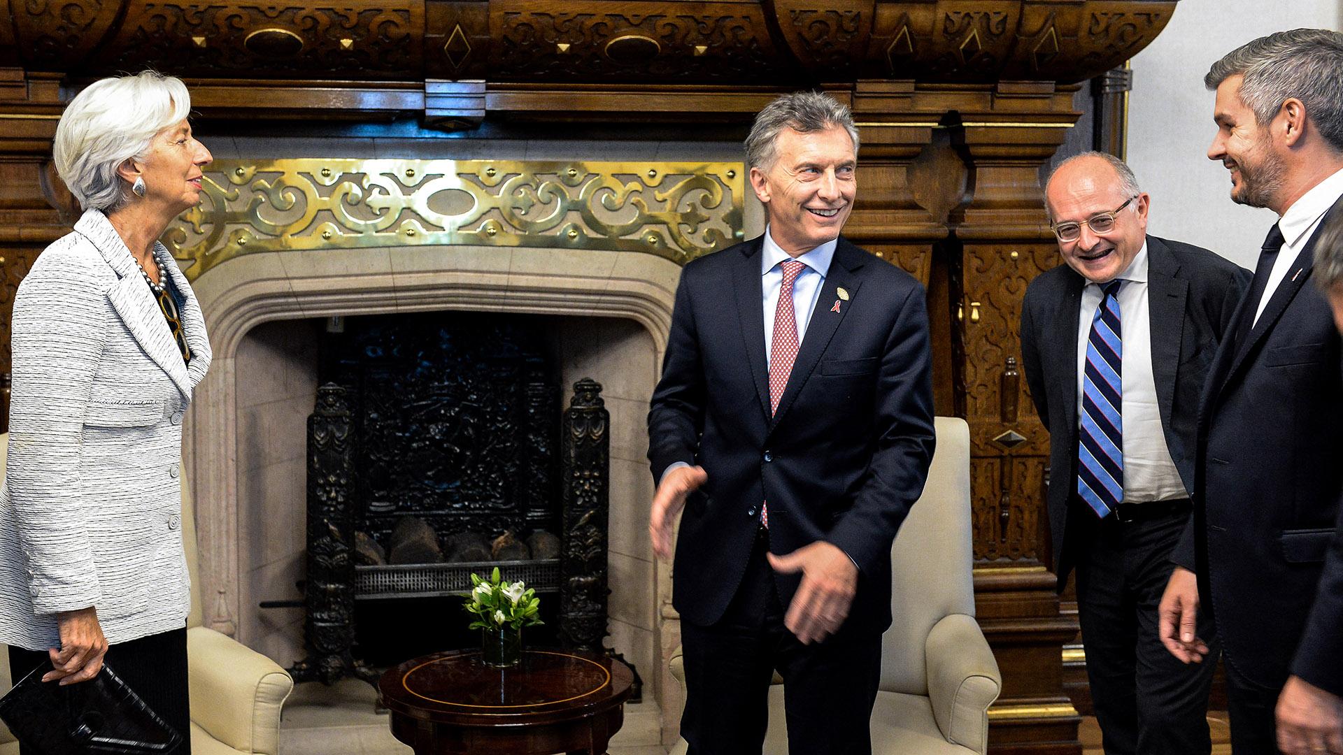 La titular del FMI Christine Lagarde fue recibida por Macri en la Casa Rosada