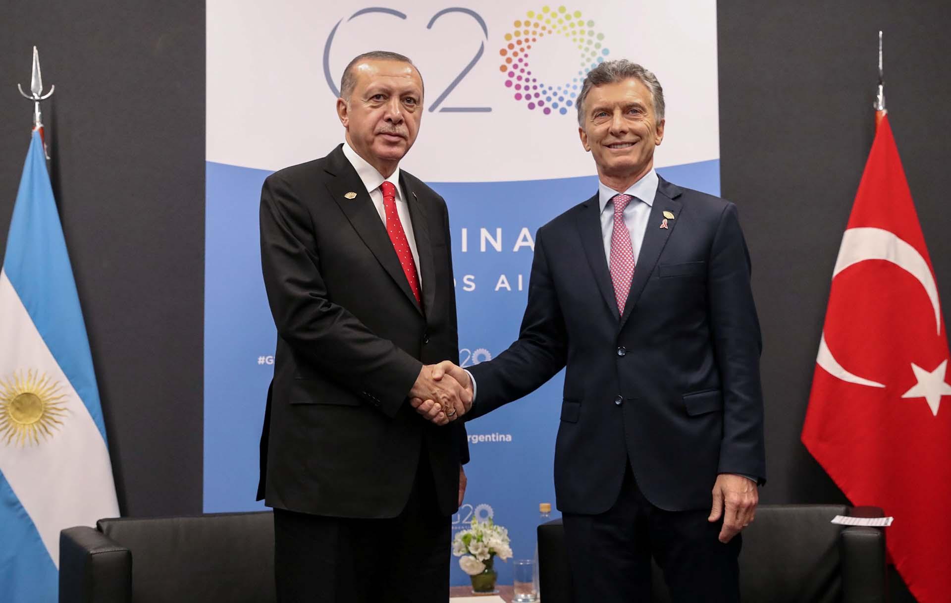 Recep Tayyip Erdogany Mauricio Macrituvieron una reunión bilateral