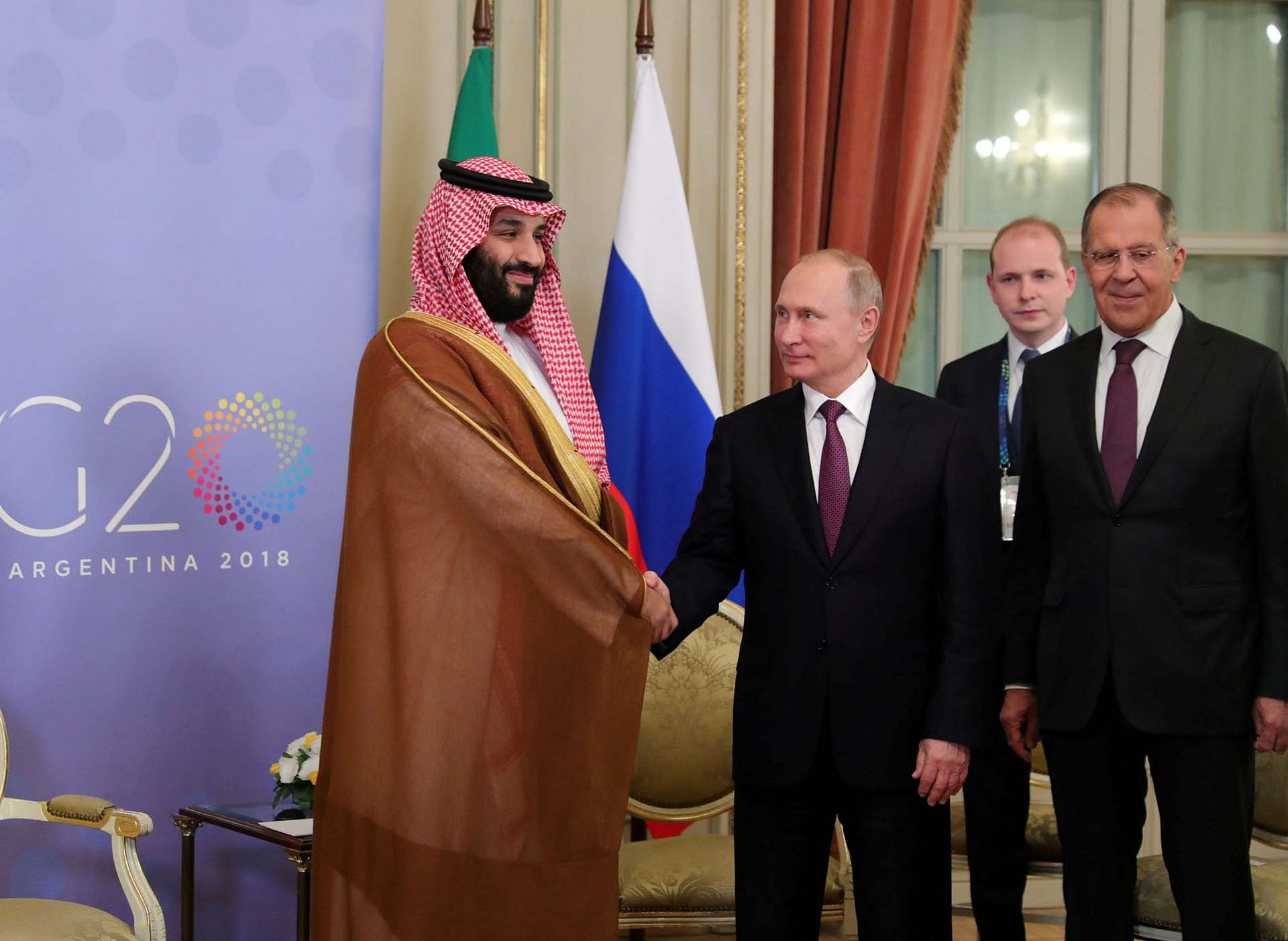 Putiny el príncipe de la corona sauditaMohammed bin Salman