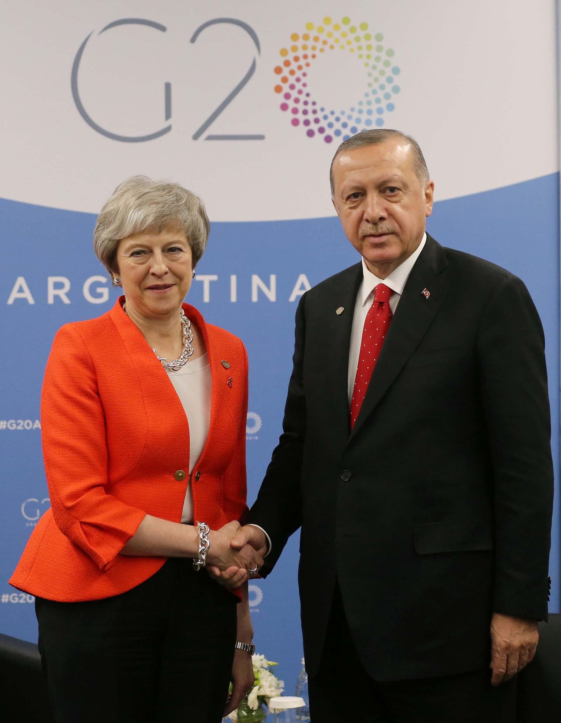 Theresa Mayy Tayyip Erdogan
