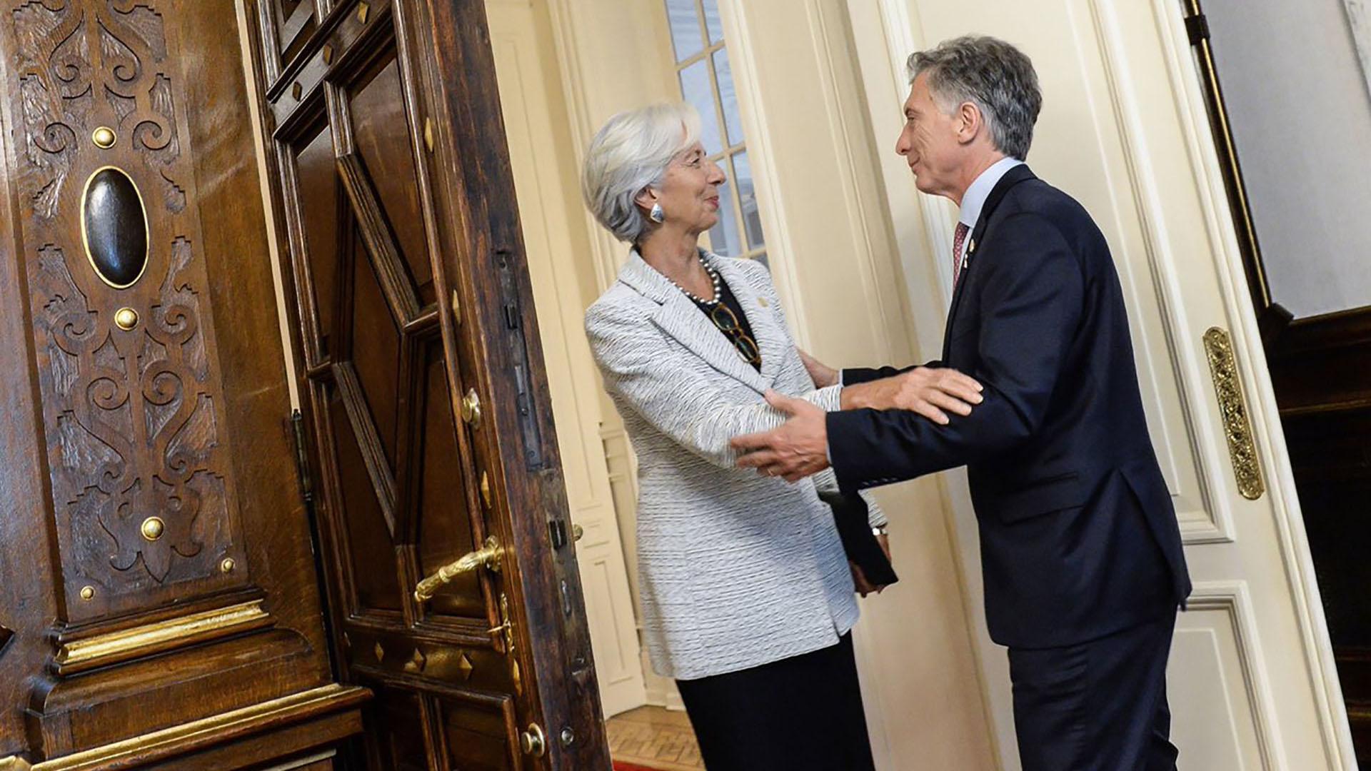Mauricio Macri y Christine Lagarde, en una de las visitas de la funcionaria al país