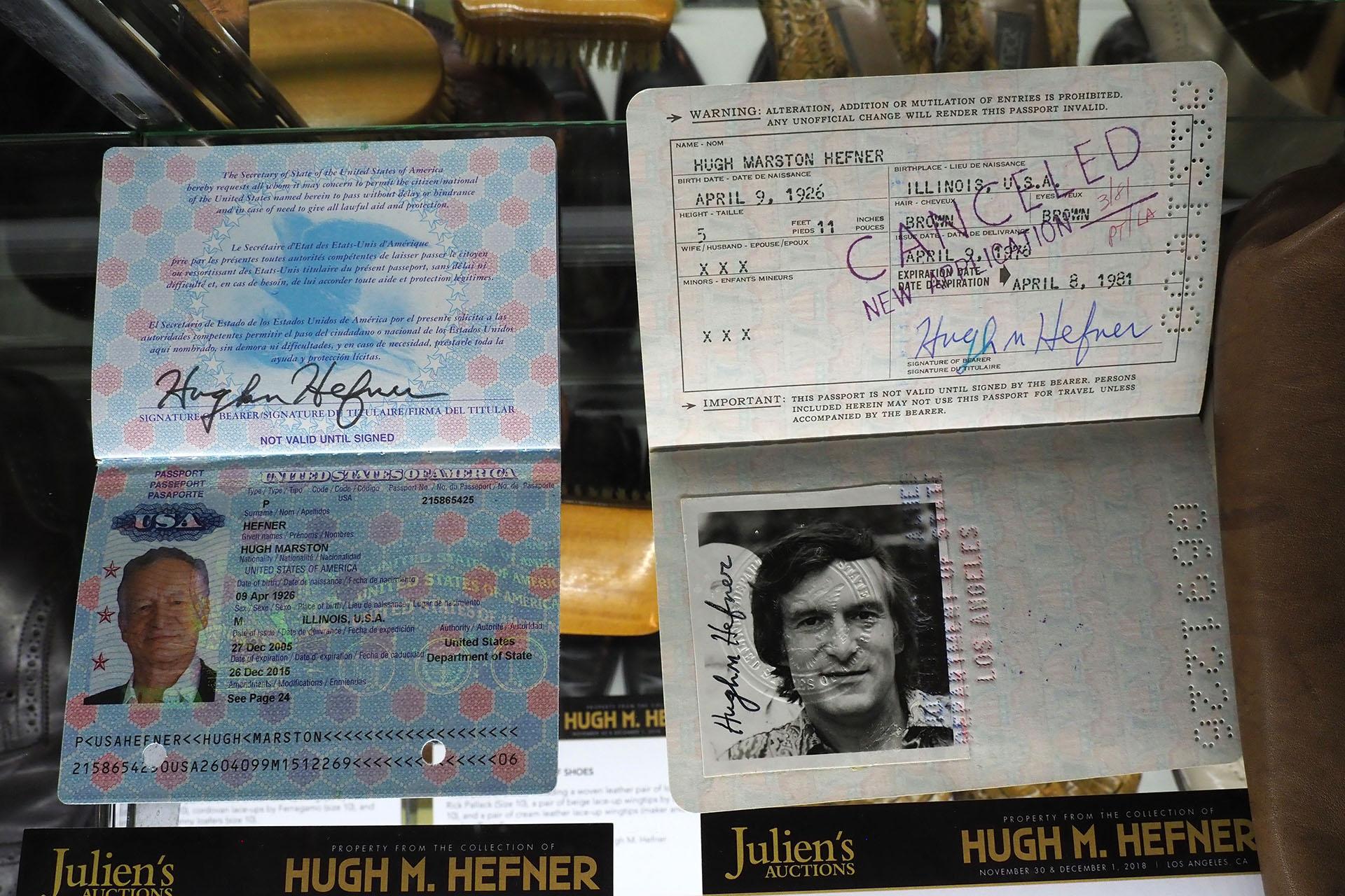 Documento de identidad y pasaporte de Hefner