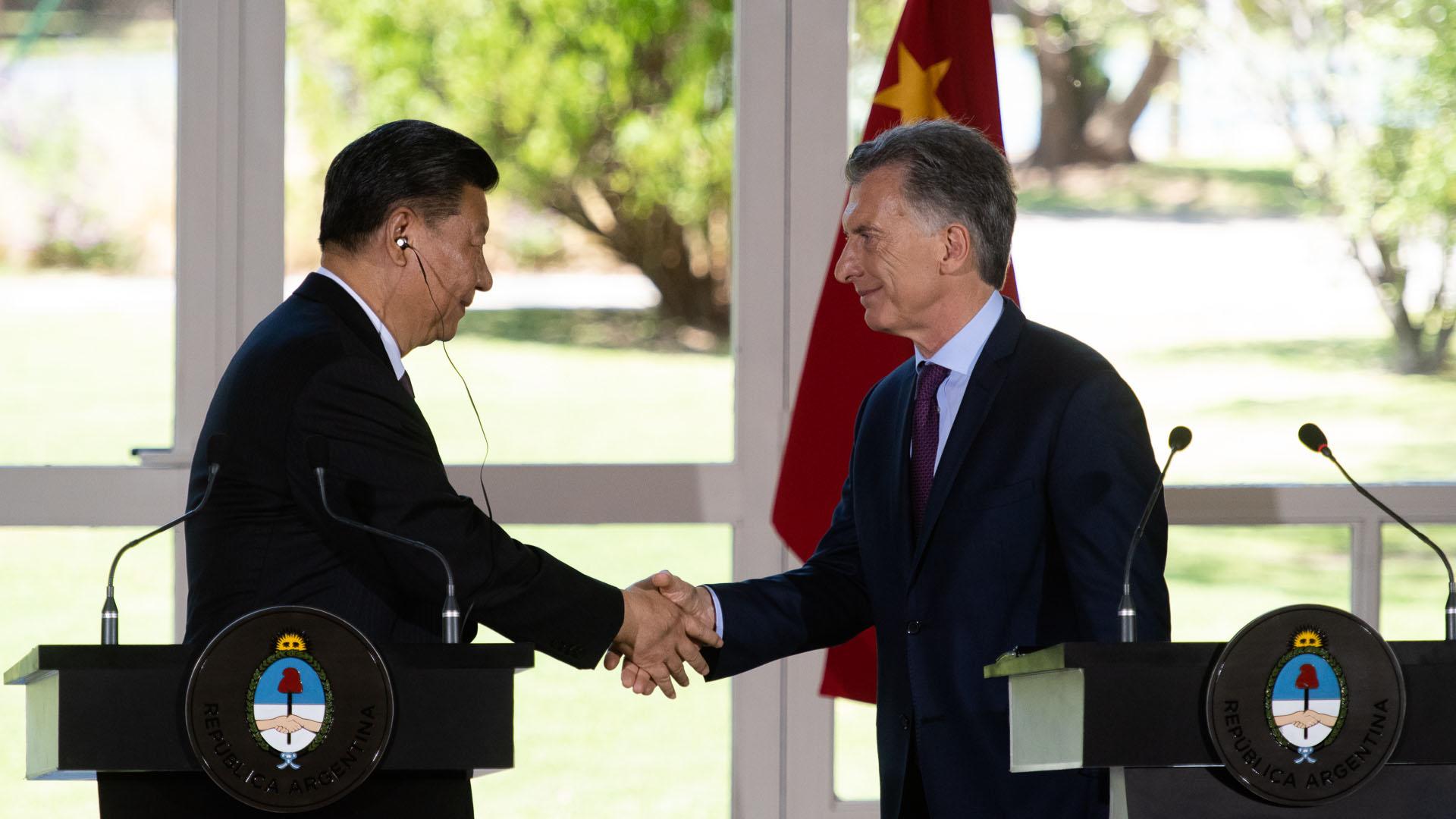 Xi Jinping y Macri en Olivos (Adrián Escandar)