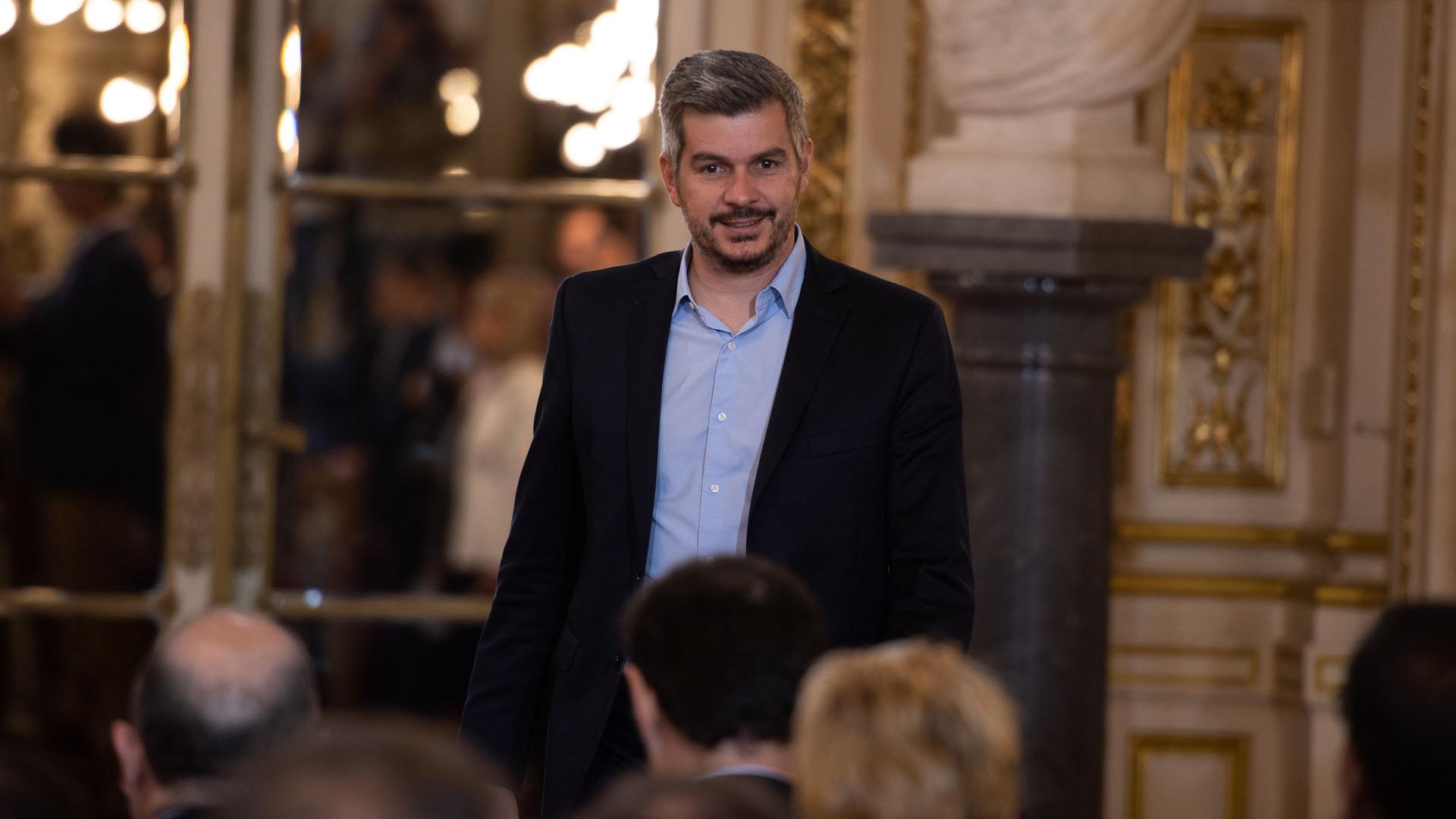 Marcos Peña, este lunes en Casa de Gobierno (Adrian Escandar)