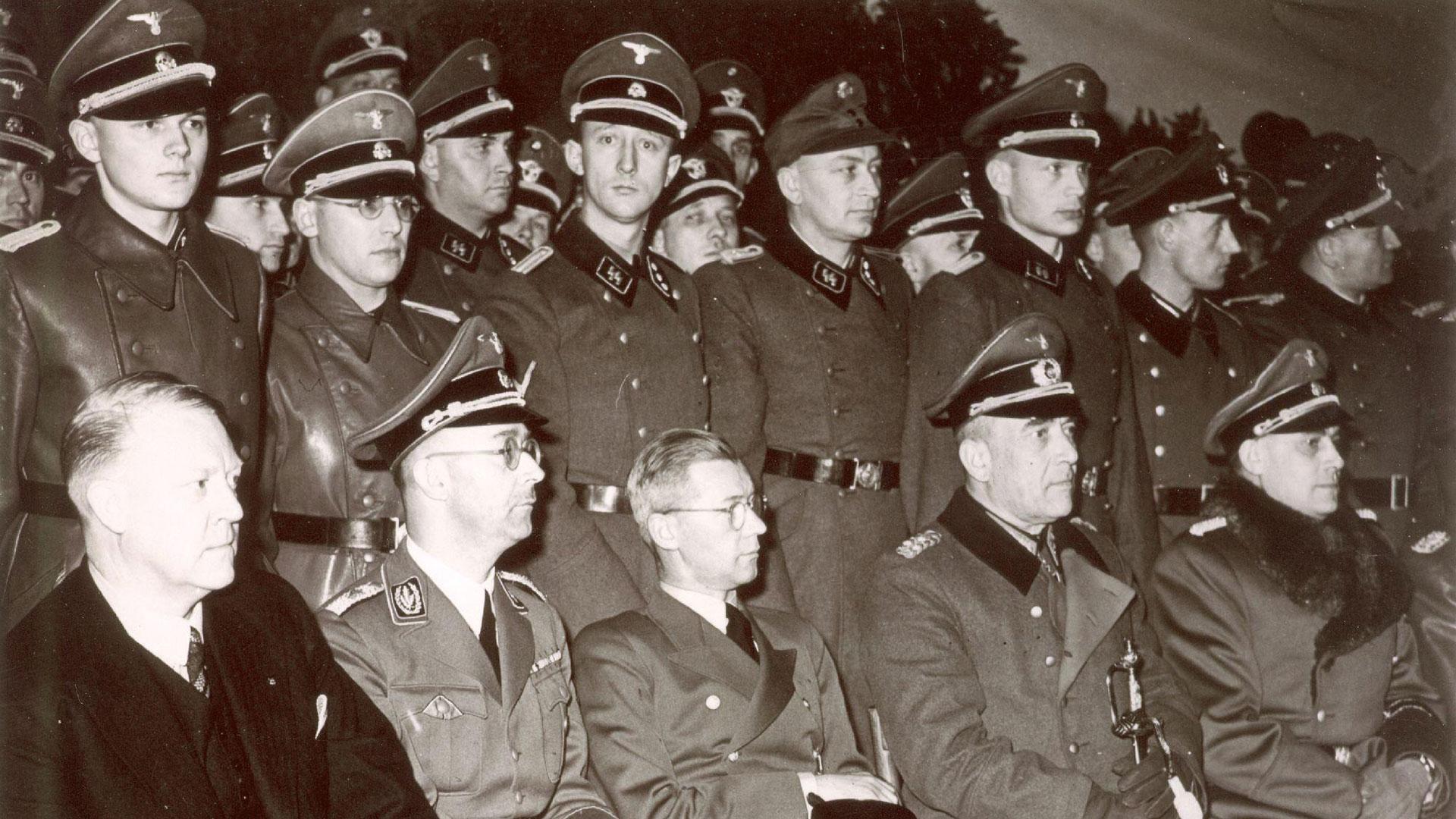 El líder nazi Heinrich Himmler durante una visita a Oslo en1942