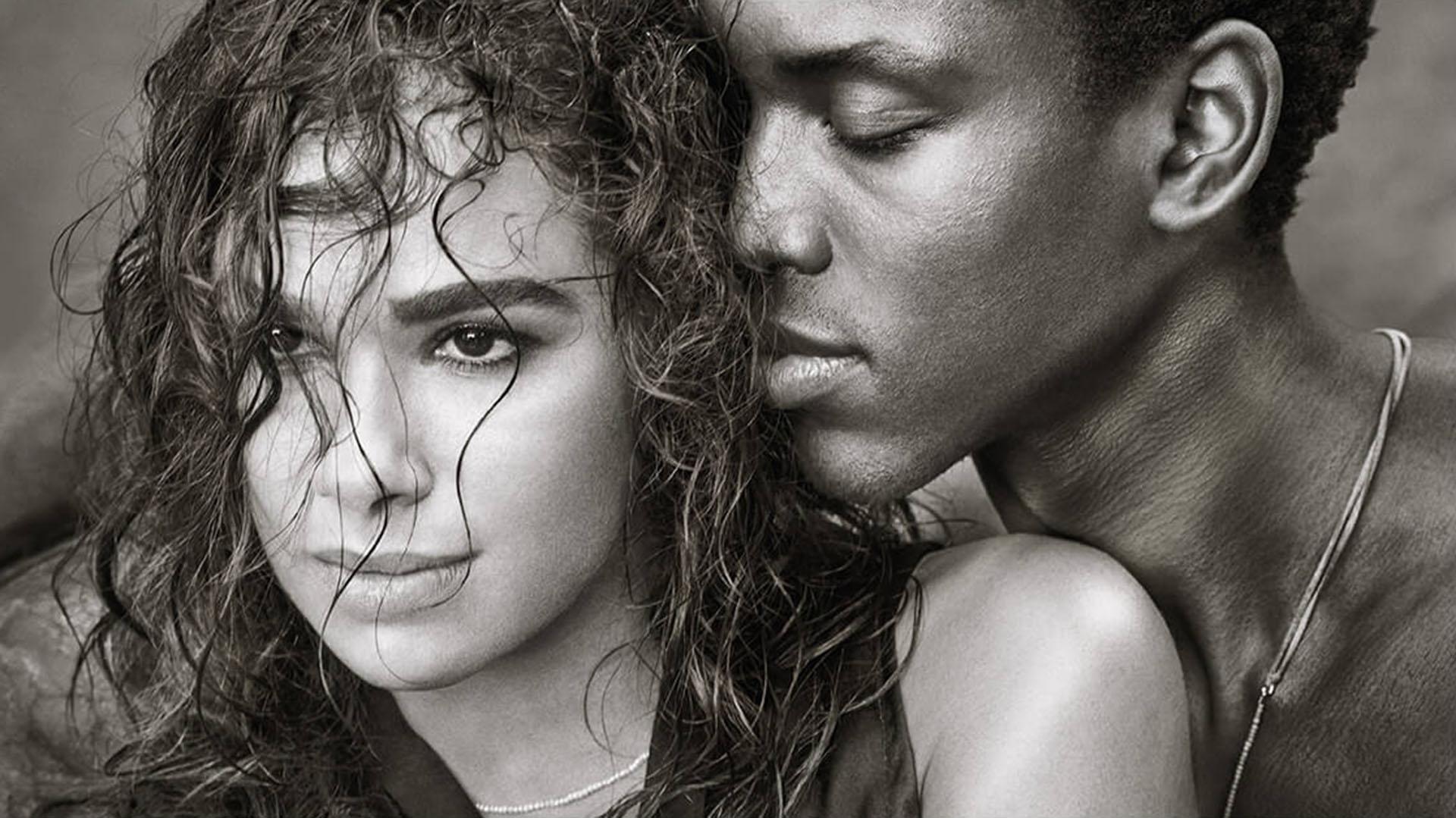 La bailarina Misty Copeland con su colega Calvin Royal III en blanco y negro