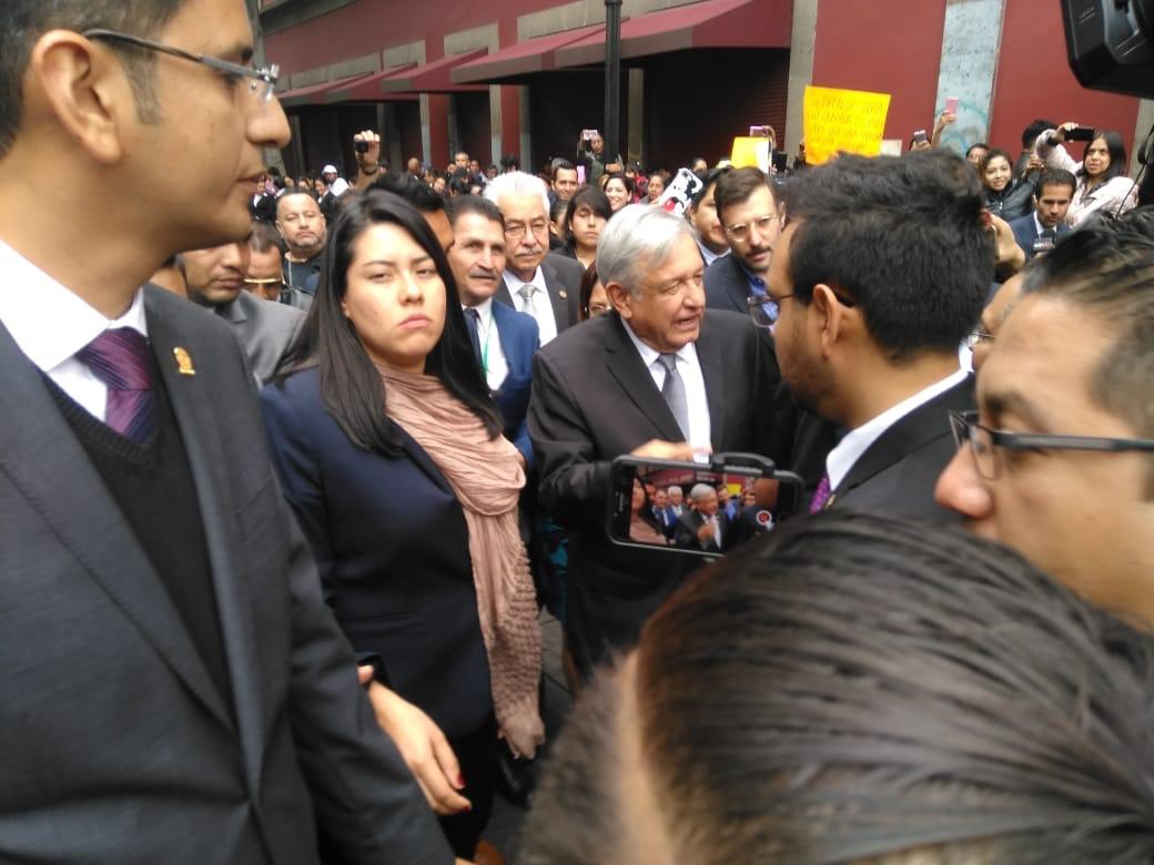 Andrés Manuel López Obrador en la toma posesión de Claudia Sheinbaum. (Foto: Patricia Juárez)