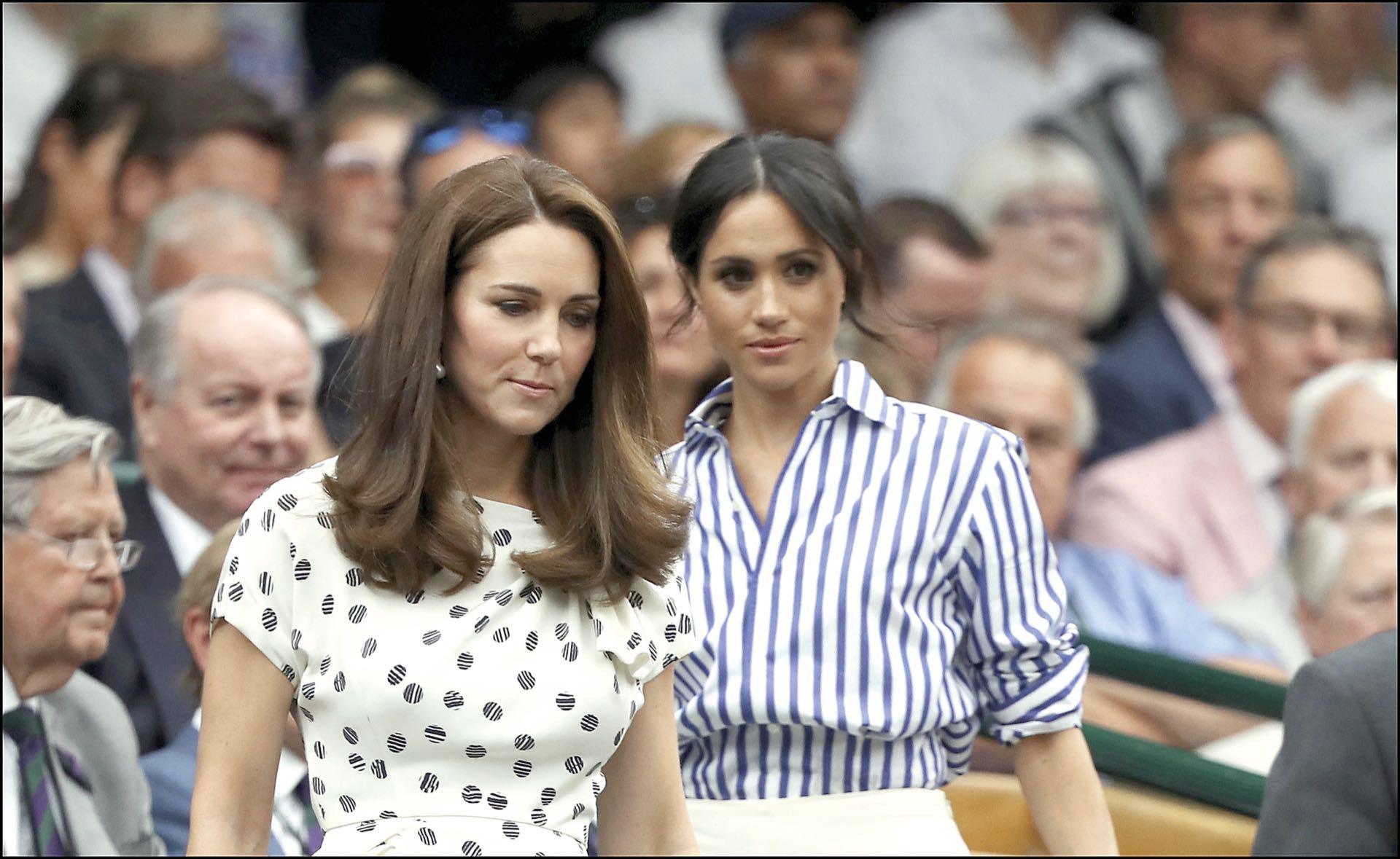 Las duquesas en un partido de tenis de Wimbledon el 14 de julio de 2018