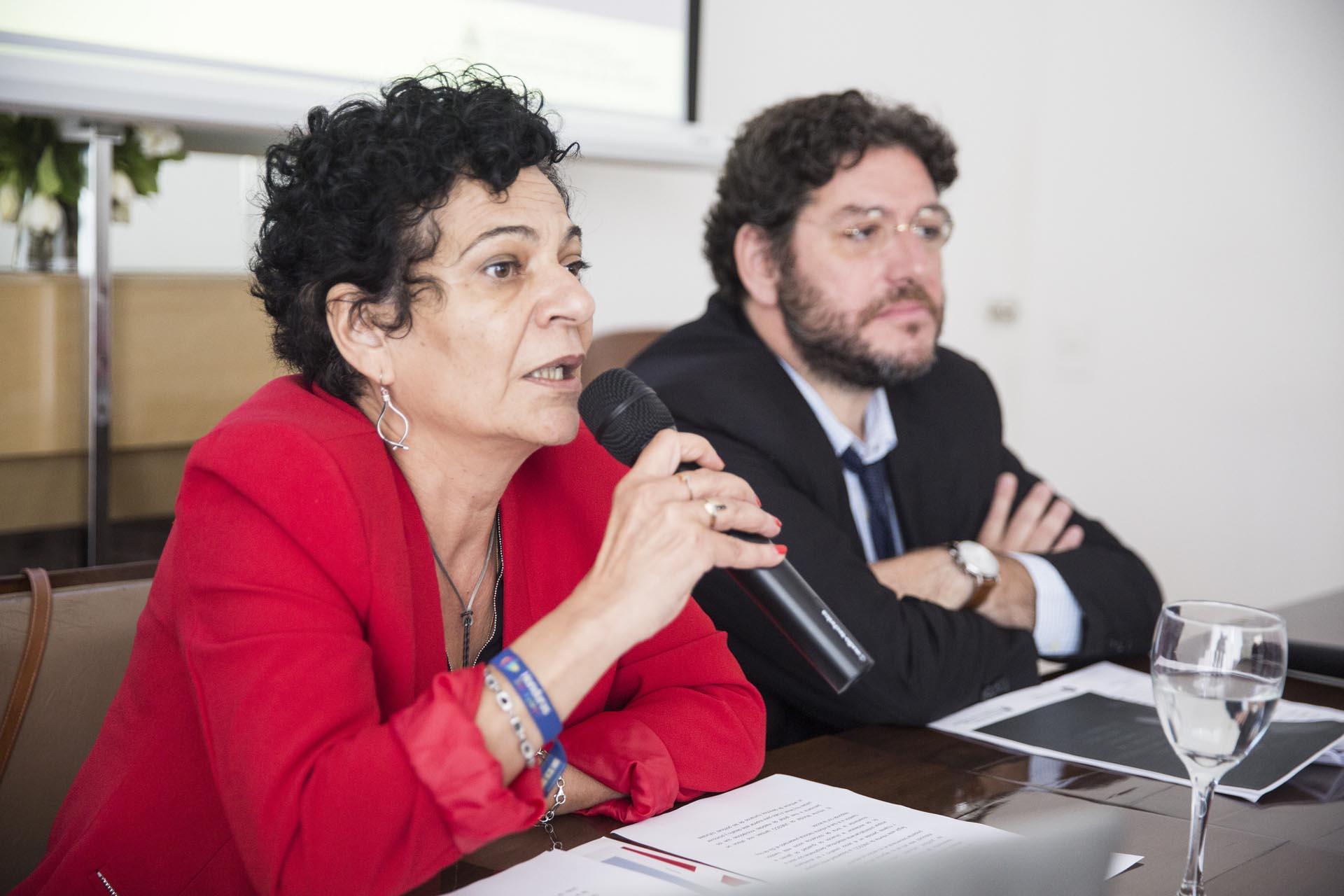 Lidia Brito, directora de UNESCo en Argentina, y Pablo Avelluto, Secretario de Cultura de la Nación