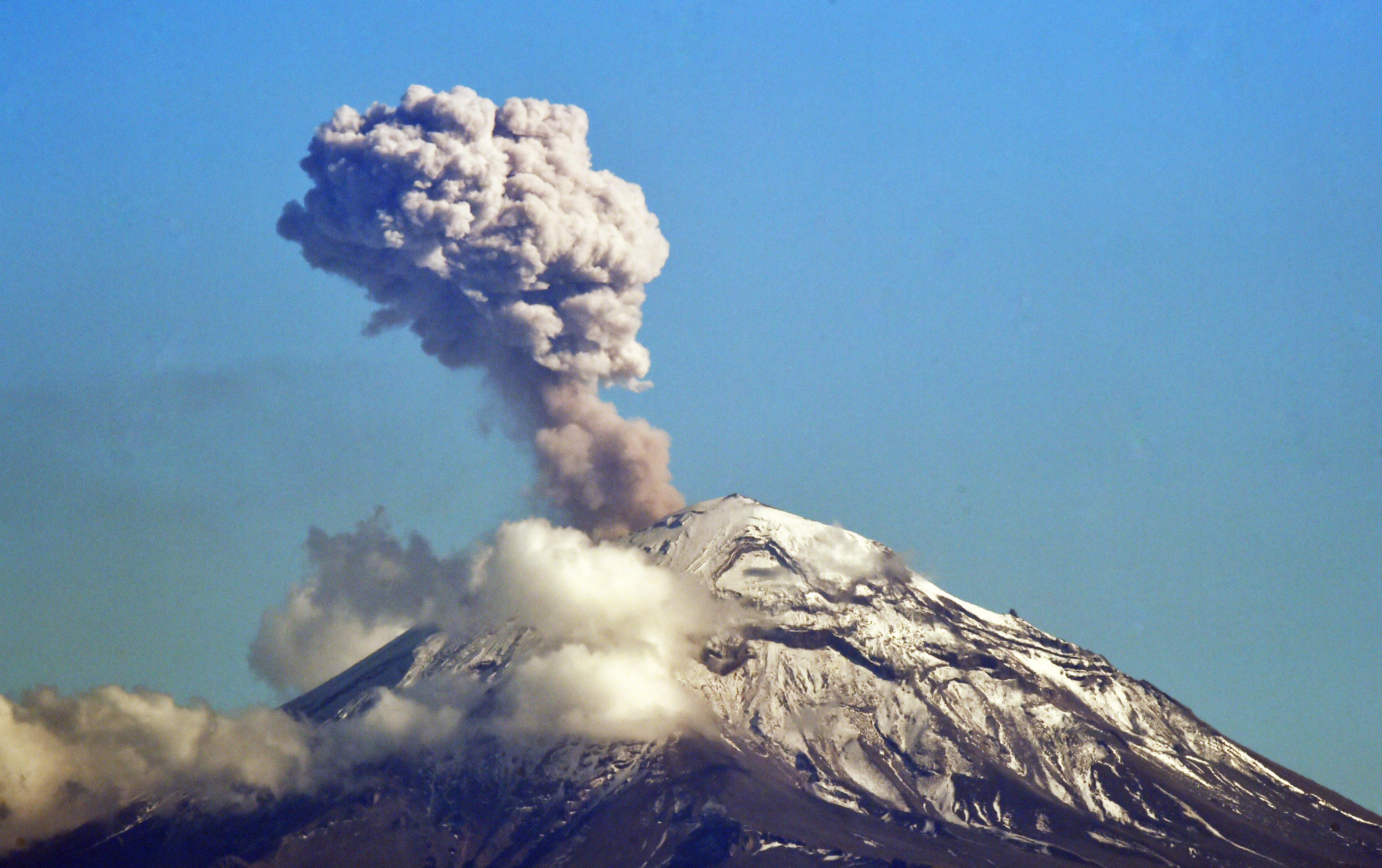 "Su nombre significa ""montaña que humea"" (Foto: Rodrigo Arangua / AFP)"