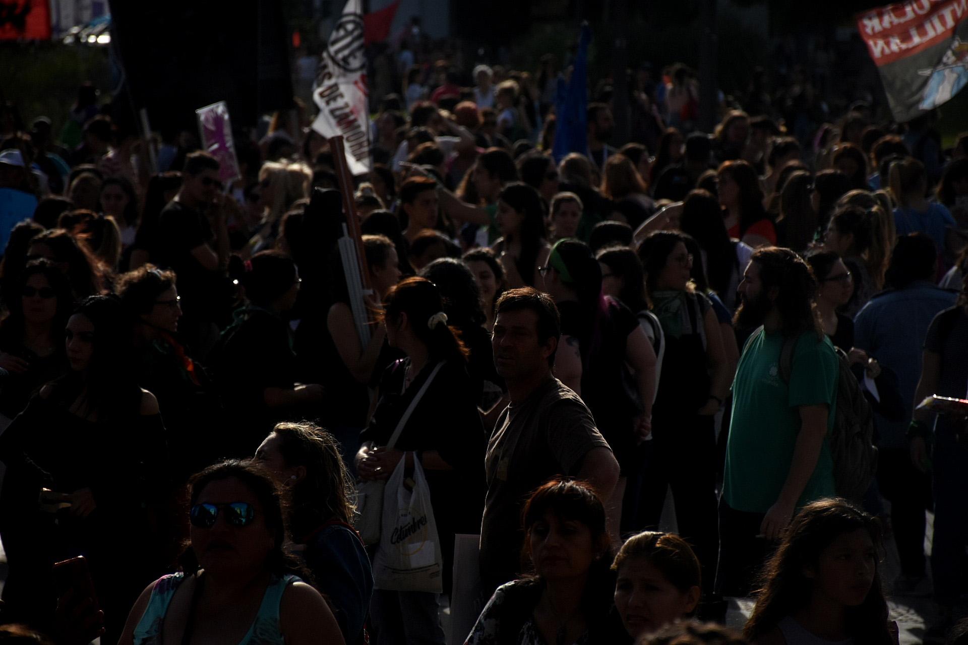 La jornada terminó en la Plaza de Mayo cerca de las 20
