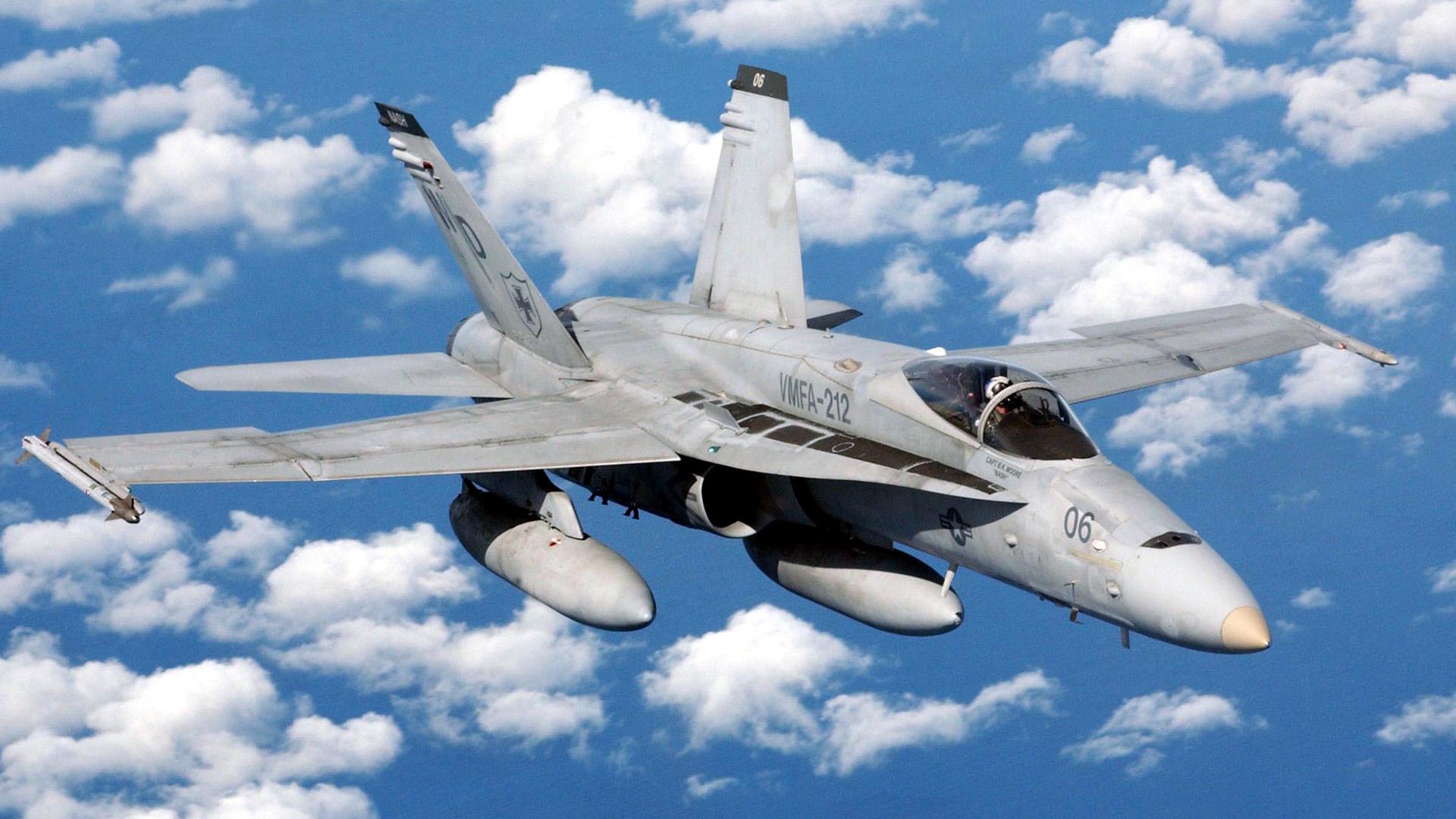 Un caza F-18 Hornet