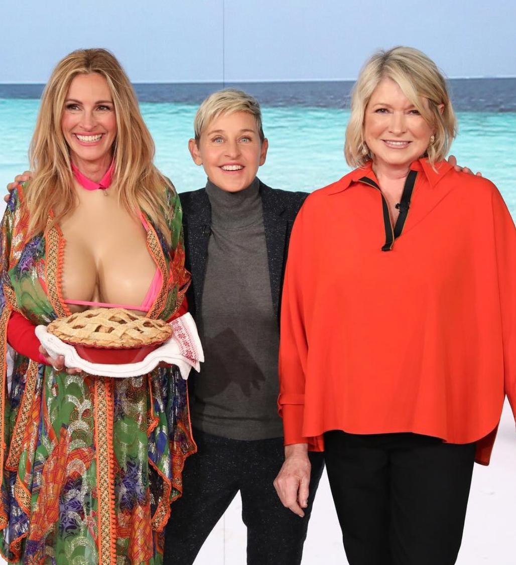 Julia Roberts, Ellen DeGeneres y Martha Stewart (Instagram, Ellen DeGeneres)