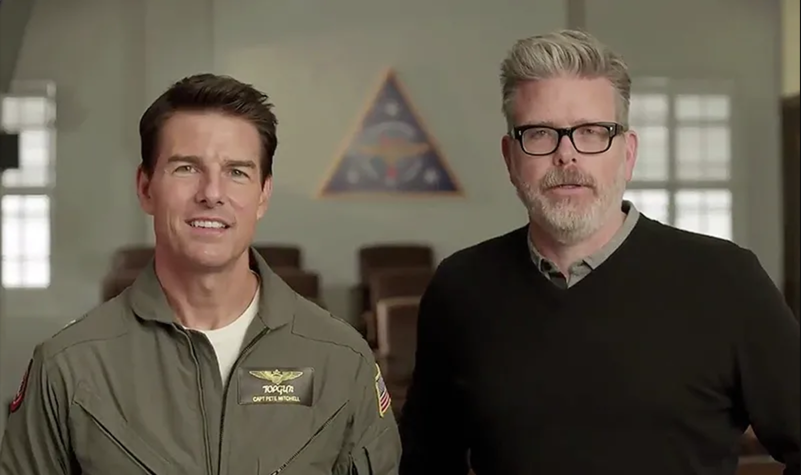 Tom Cruise y Christopher McQuarrie (Twitter Tom Cruise)
