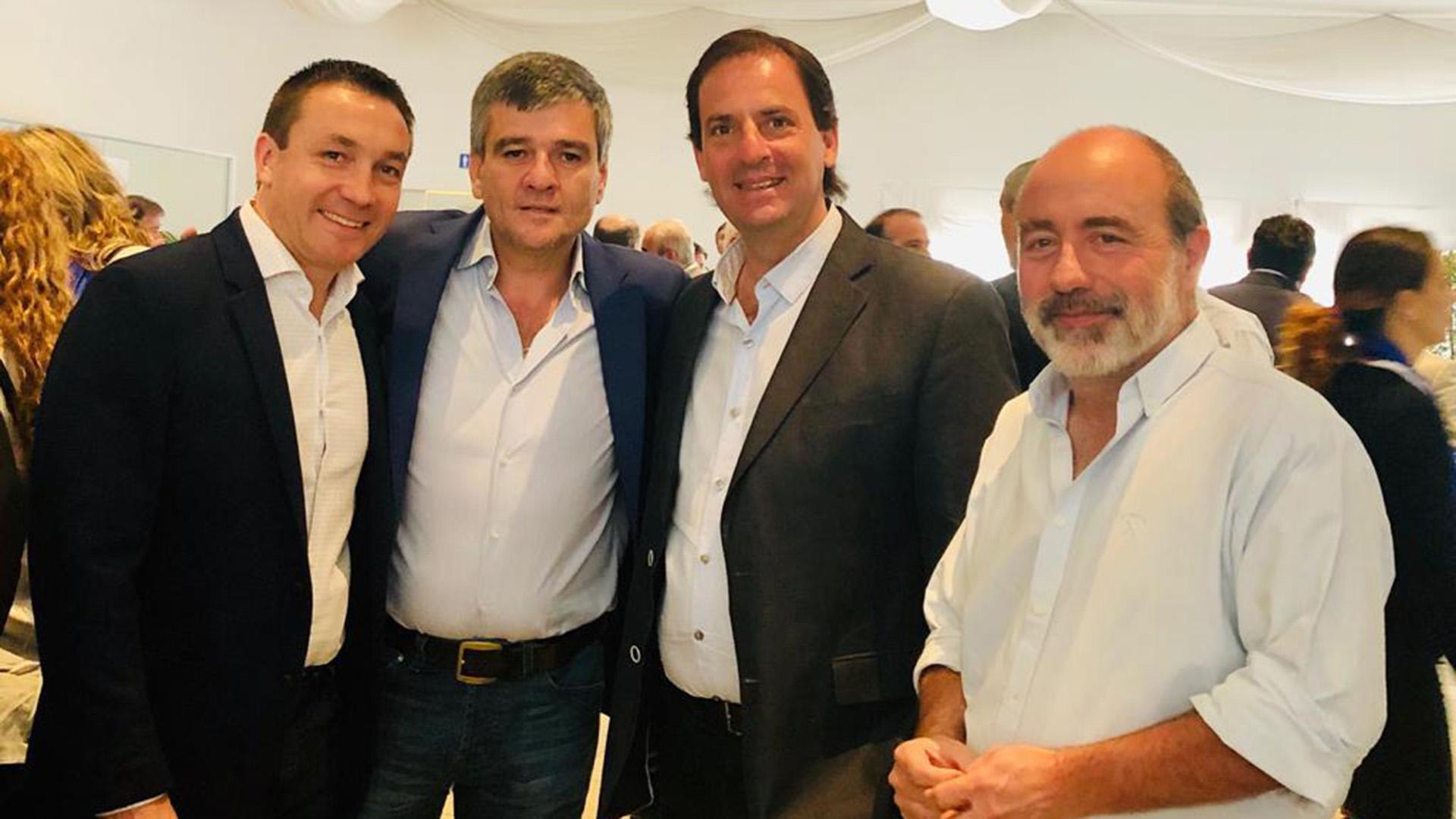 Los intendentes Andrés Watson (Florencio Varela), Juan Zabaleta (Hurlingham) y Ariel Sujarchuk (Escobar)