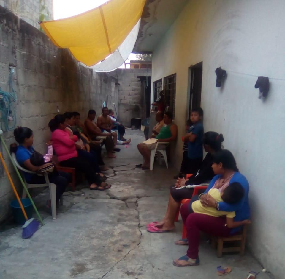 Lugar donde vive Eva Méndez con 10 familias tzeltales más, víctimas de desplazamiento forzado interno