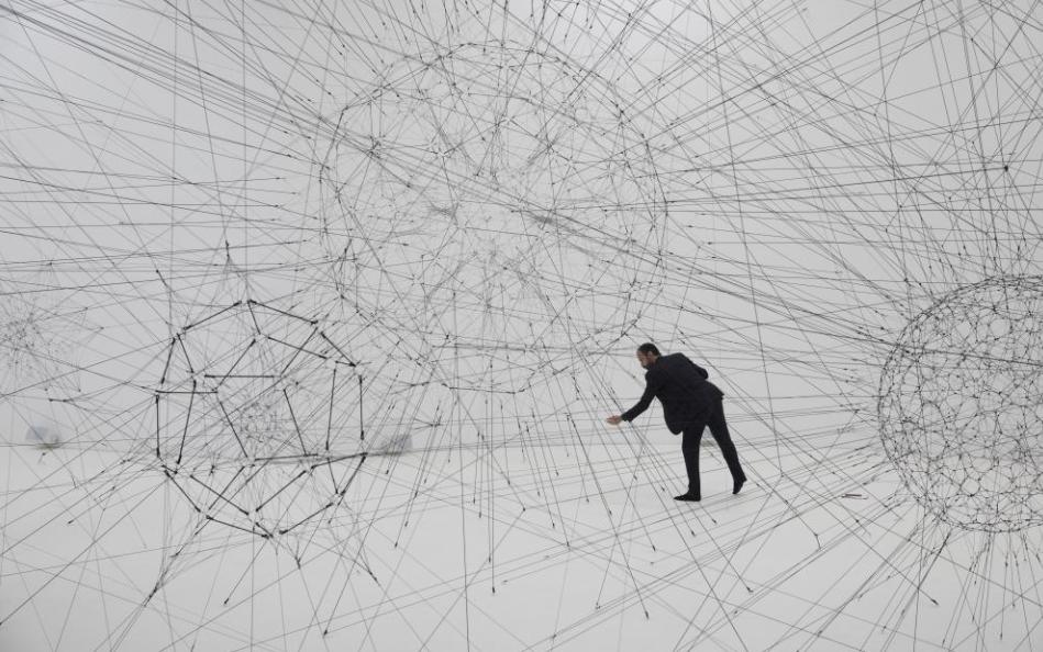 """""""On Air""""semuestra en el Palais de Tokyo, en París, hasta el 6 de enero de 2019. (Tomás Saraceno)"""