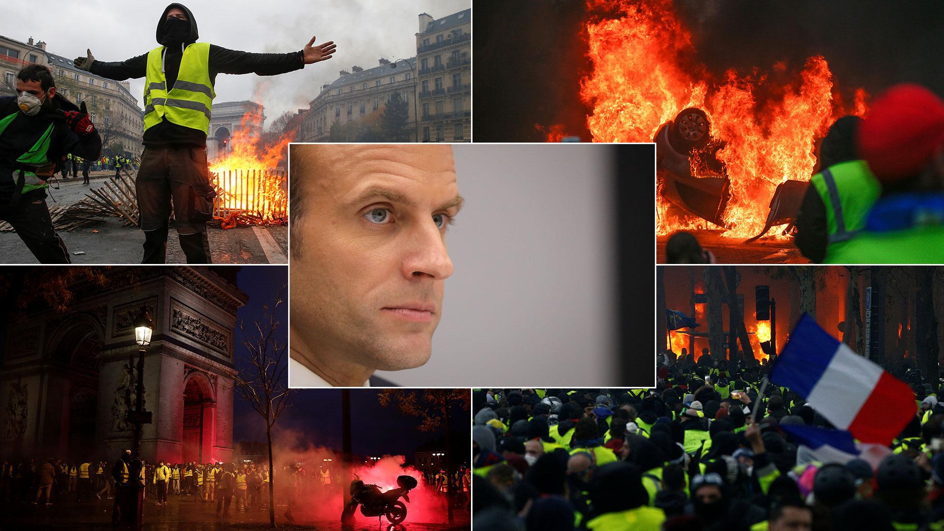Emmanuel Macron, encerrado en una crisis que paraliza al país