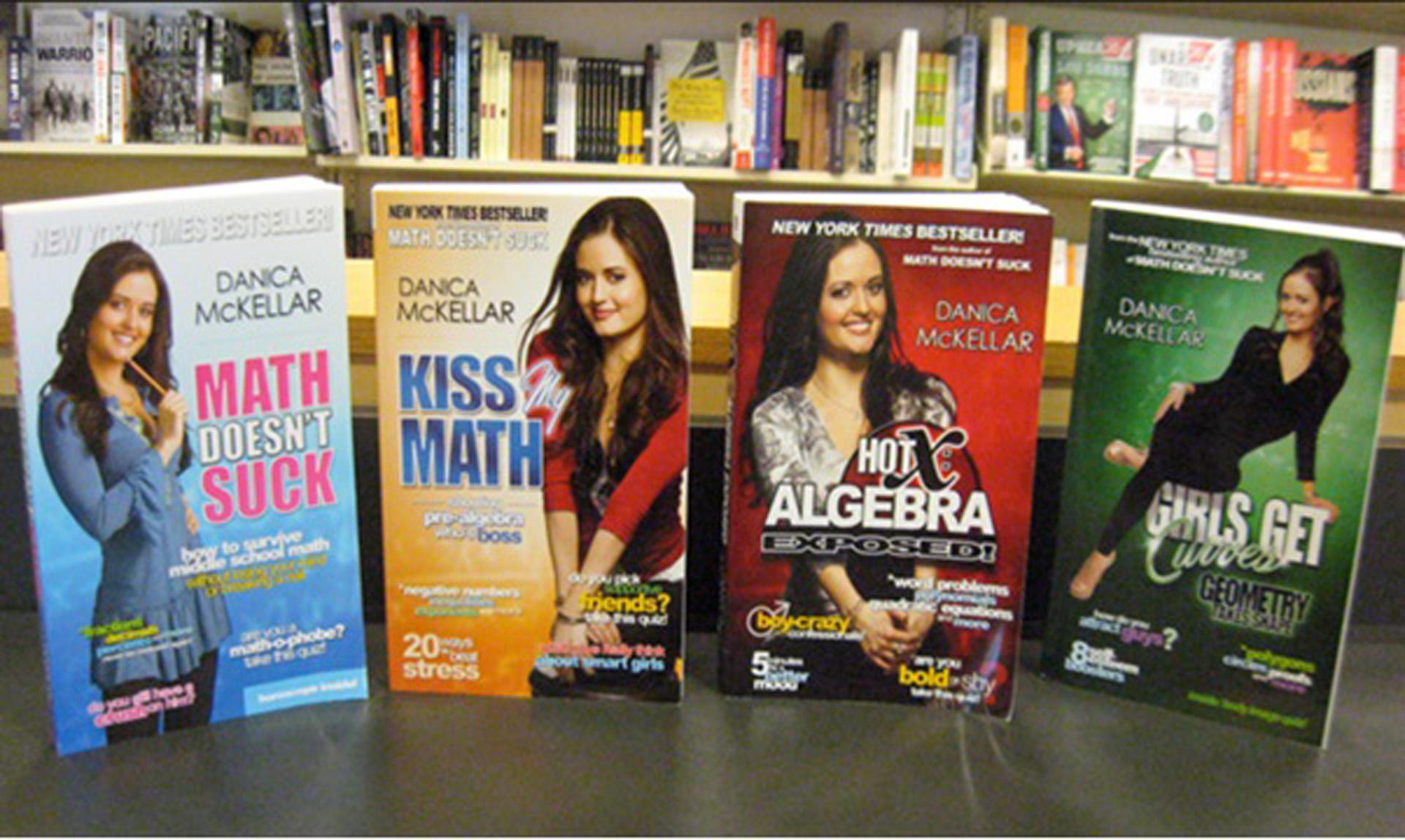 Algunos de los libros de Danica McKellar