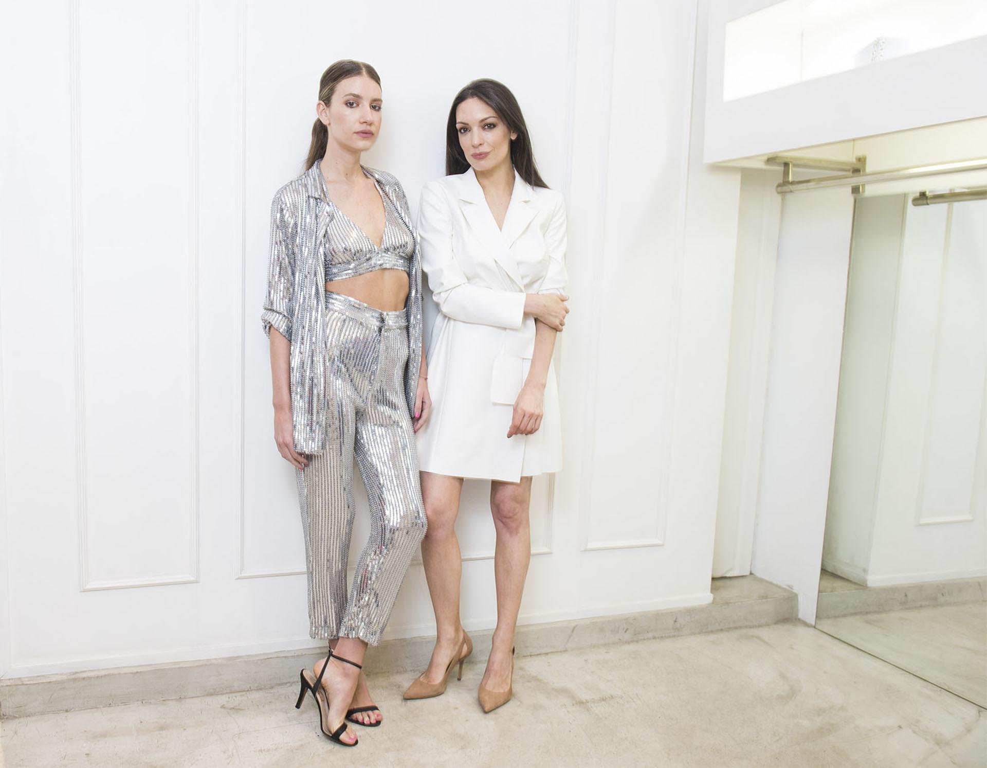 María Gorof ideó un look de tres piezas para recibir el 2019