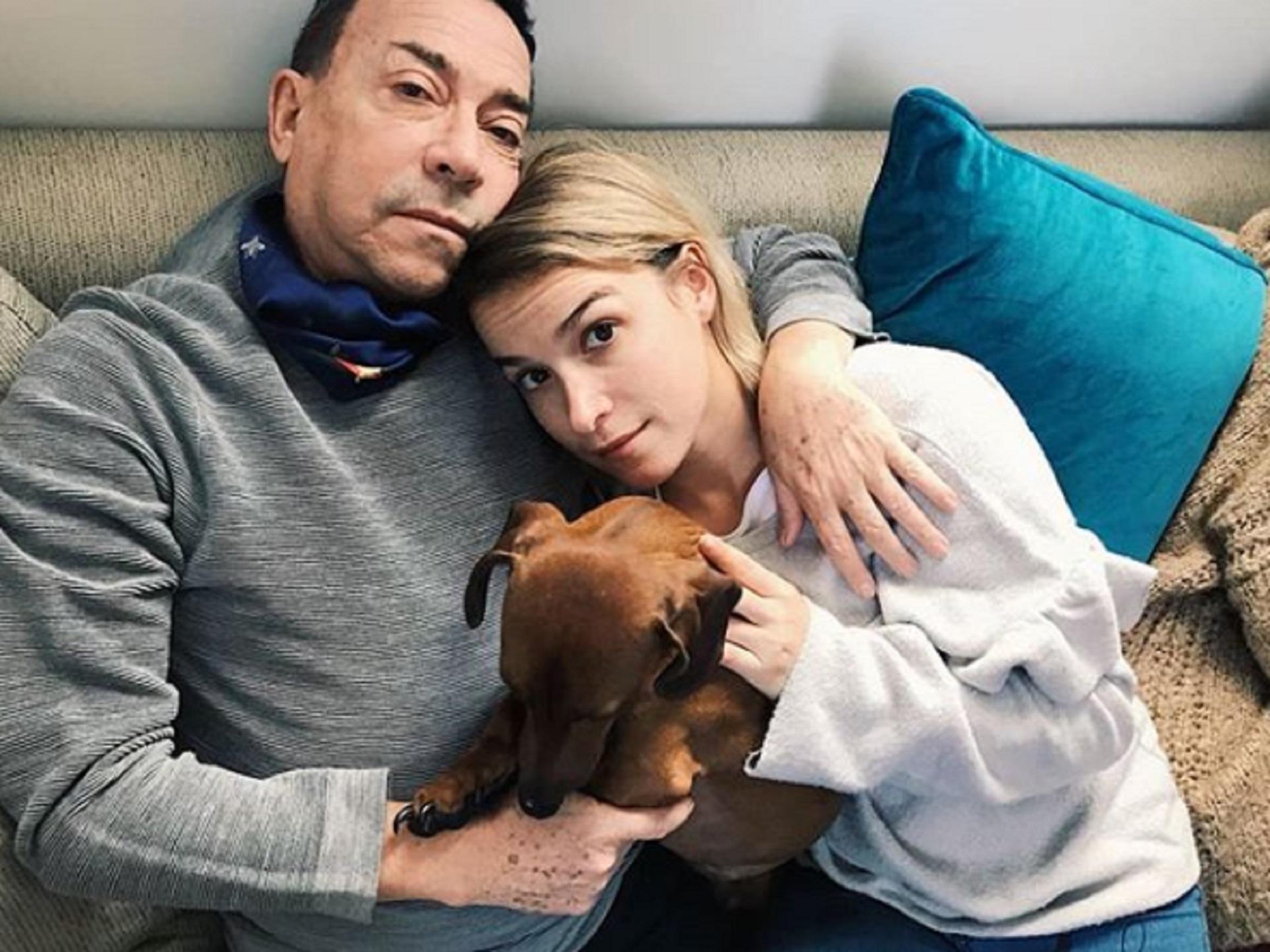 Aníbal Pachano, junoto a su hija Sofía y su mascota (Instagram)