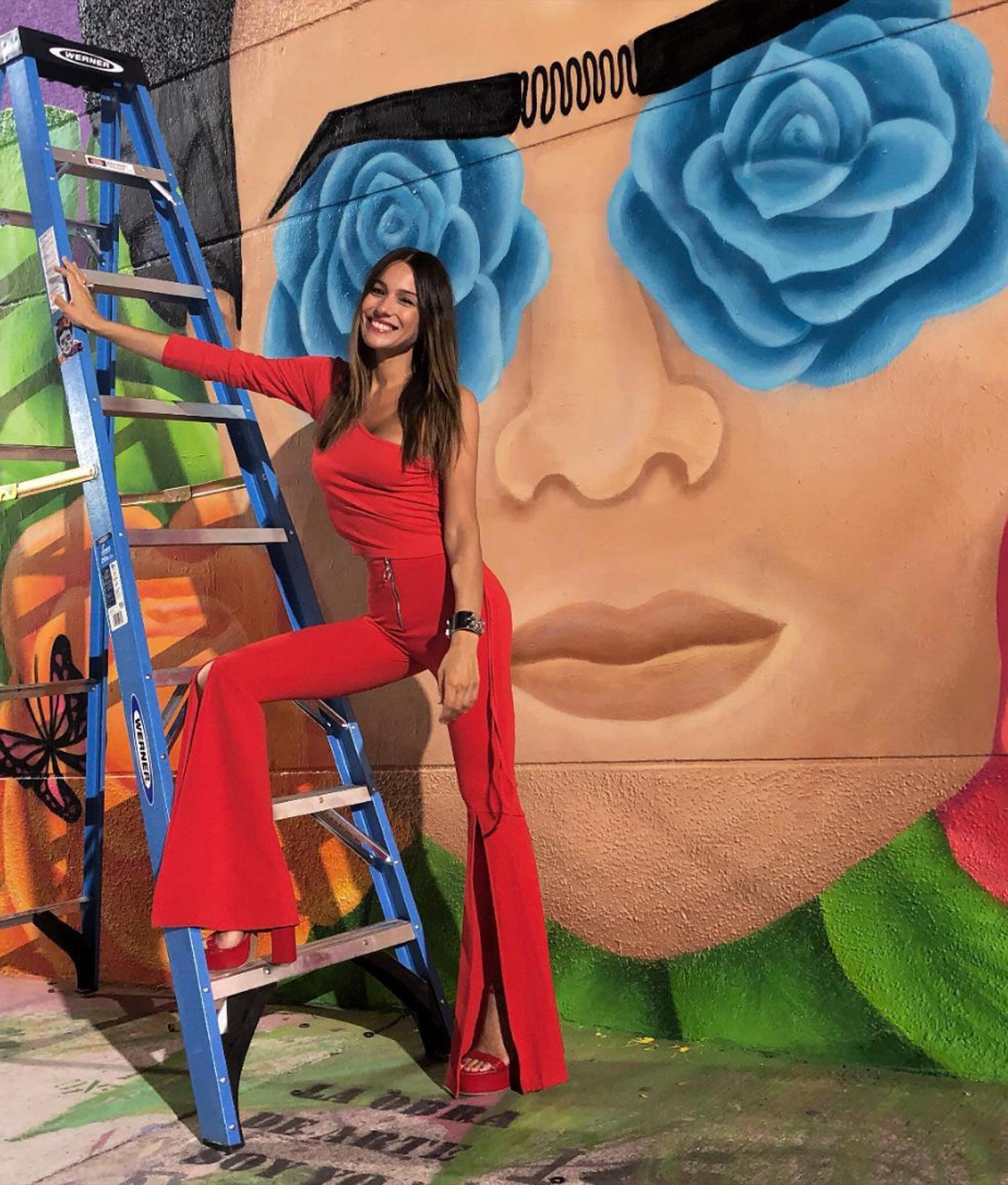 Pampita posa para una nueva campaña gráfica en Miami