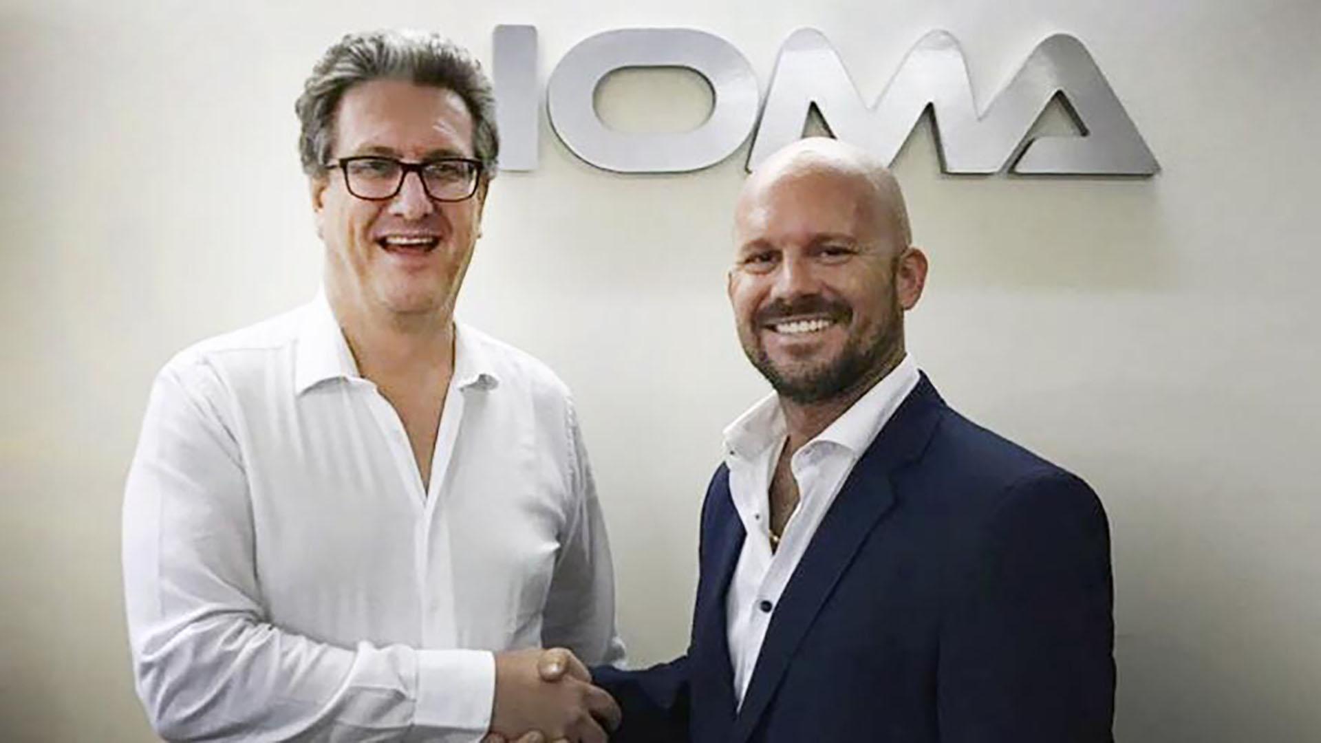Presidente de IOMA Pablo Di Liscia con Nicolas Galoppo
