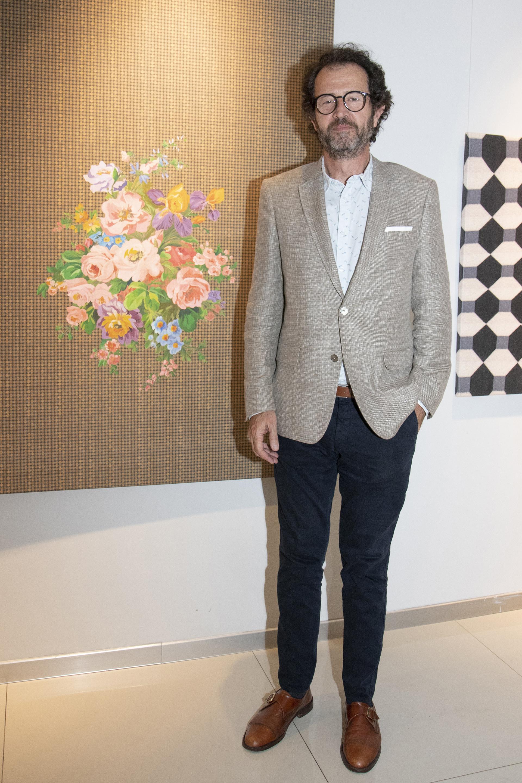 El artista plástico Lucas Beccar Varela
