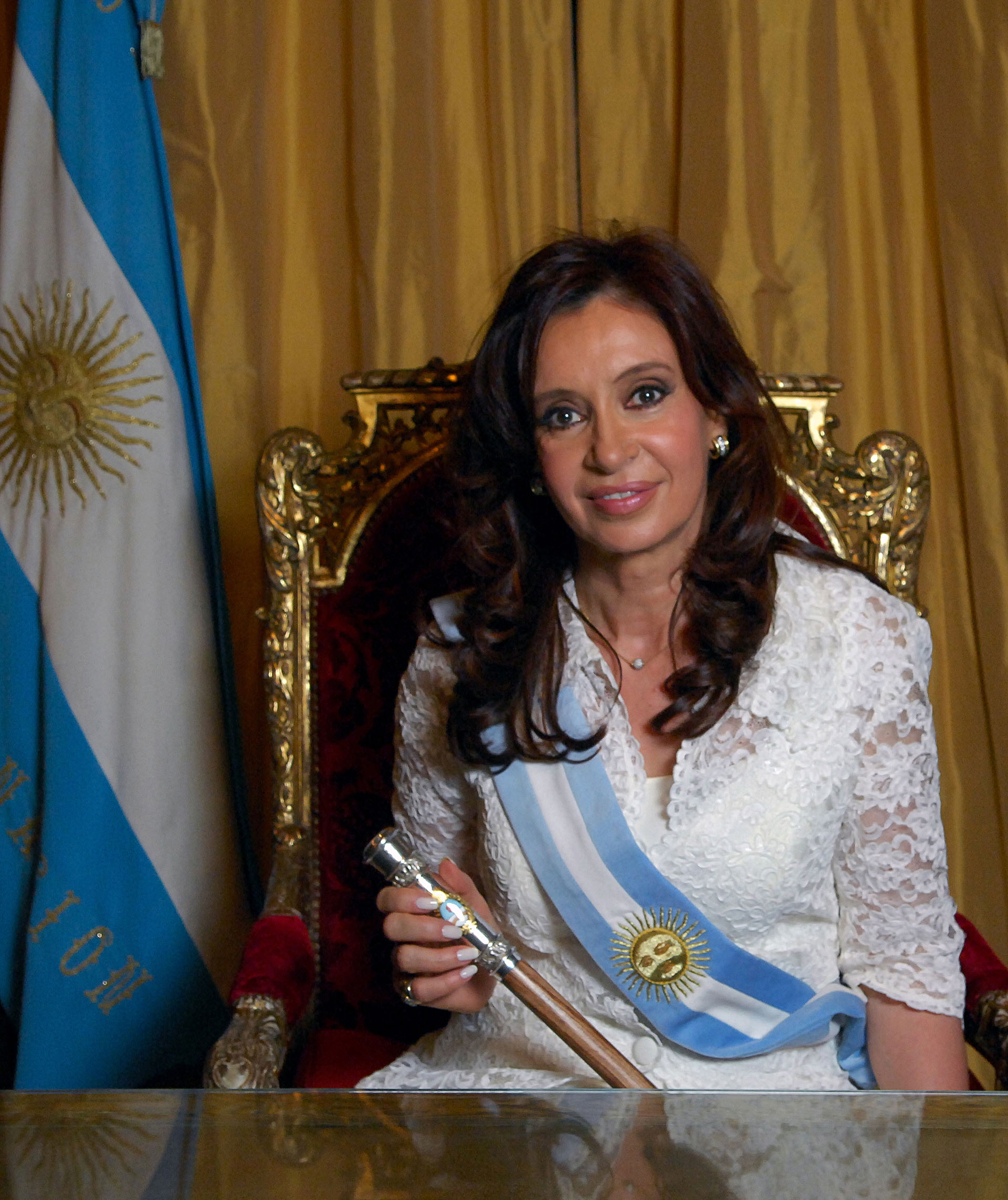Cristina Kirchner el día de su asunción