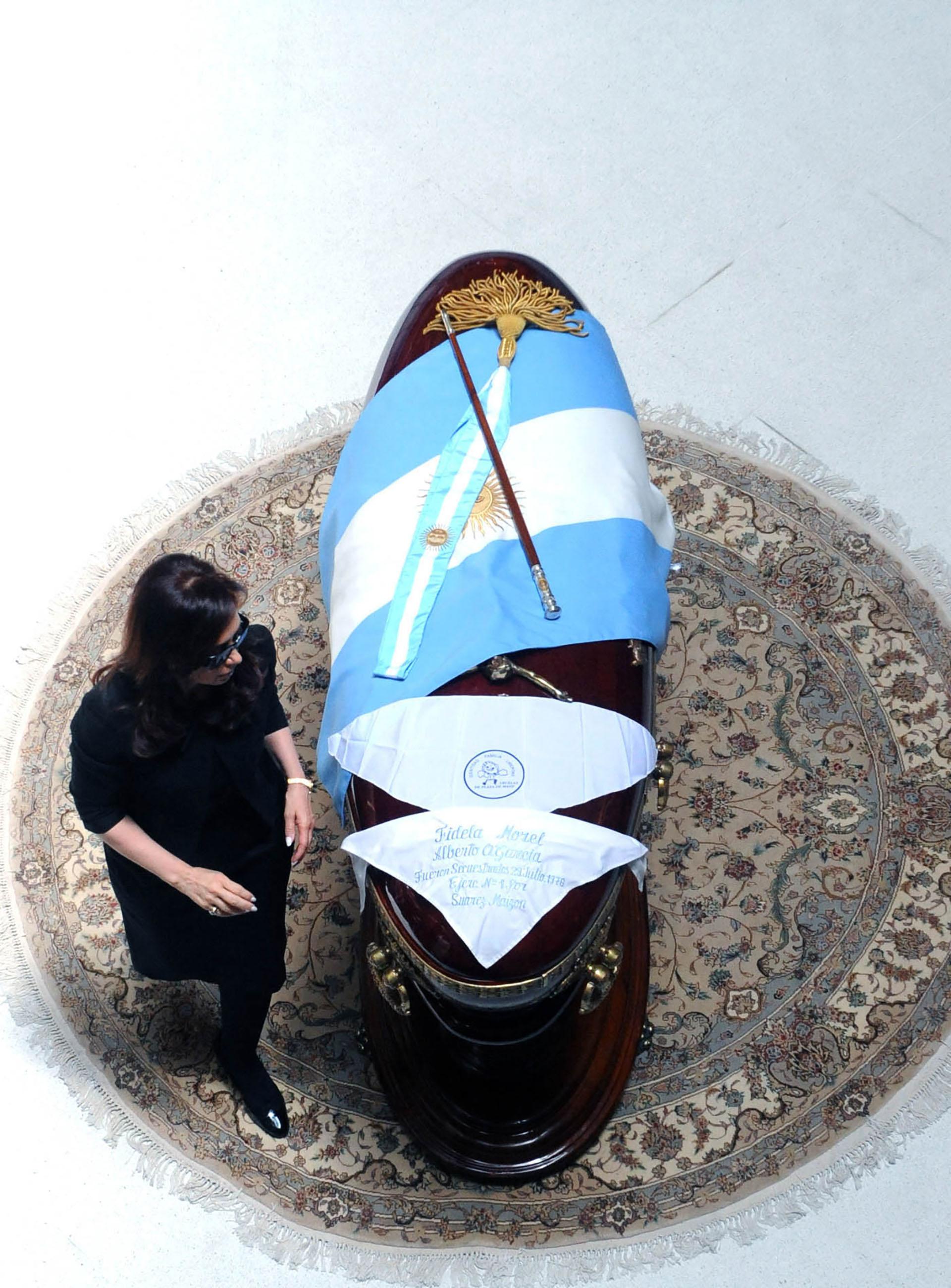 Cristina Kirchner en el velorio de Néstor Kirchner