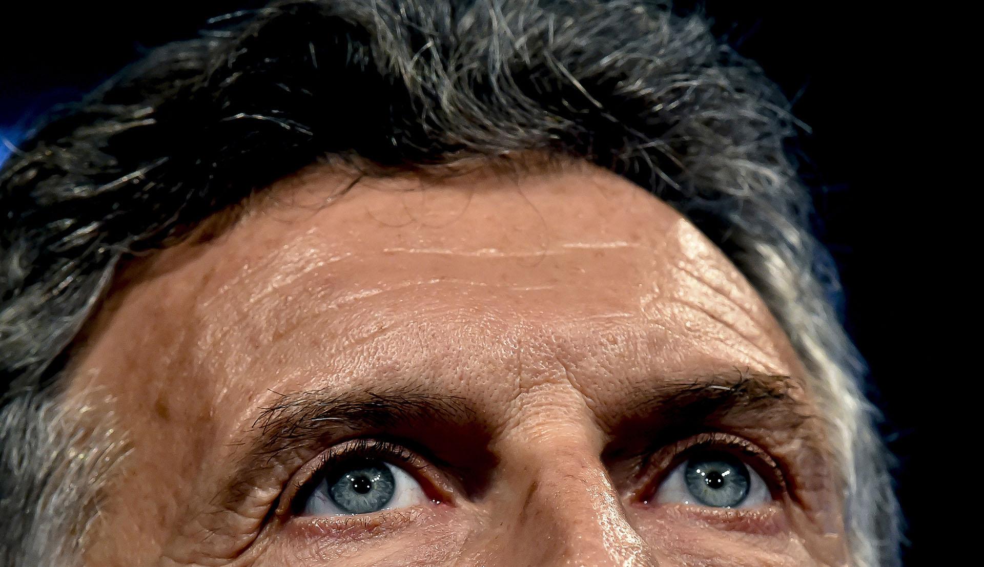 Los ojos de Mauricio Macri