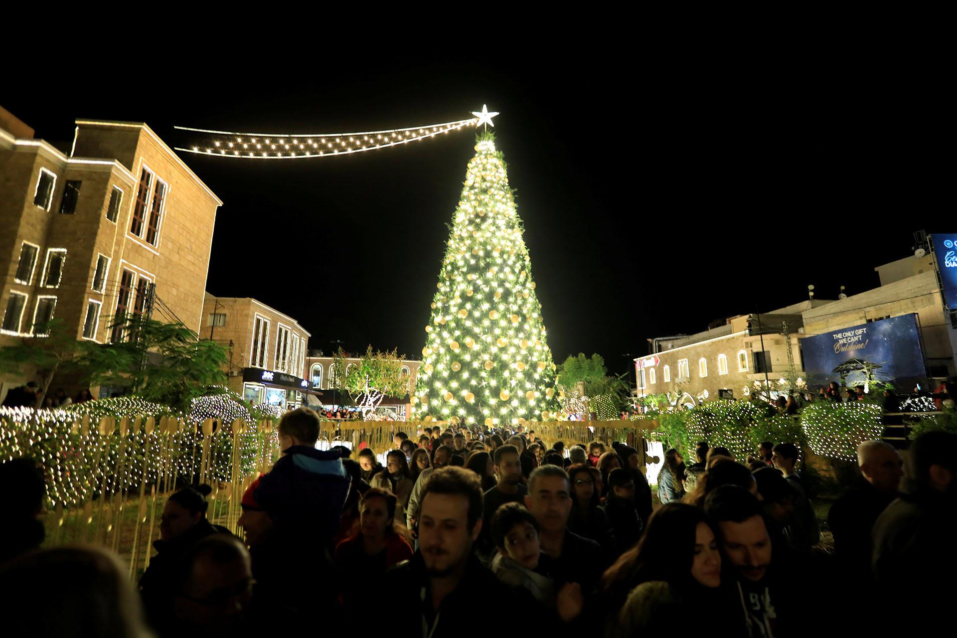 BIBLOS, LÍBANO. Verde, dorado y amarillo. Los colores para el luminoso árbol de la ciudad libanesa