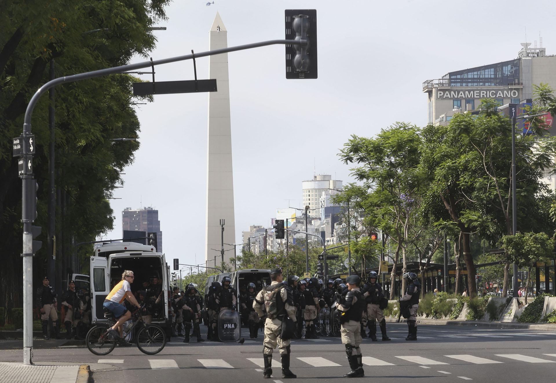Habrá un operativo especial de seguridad y corte de calles en las inmediaciones del Obelisco