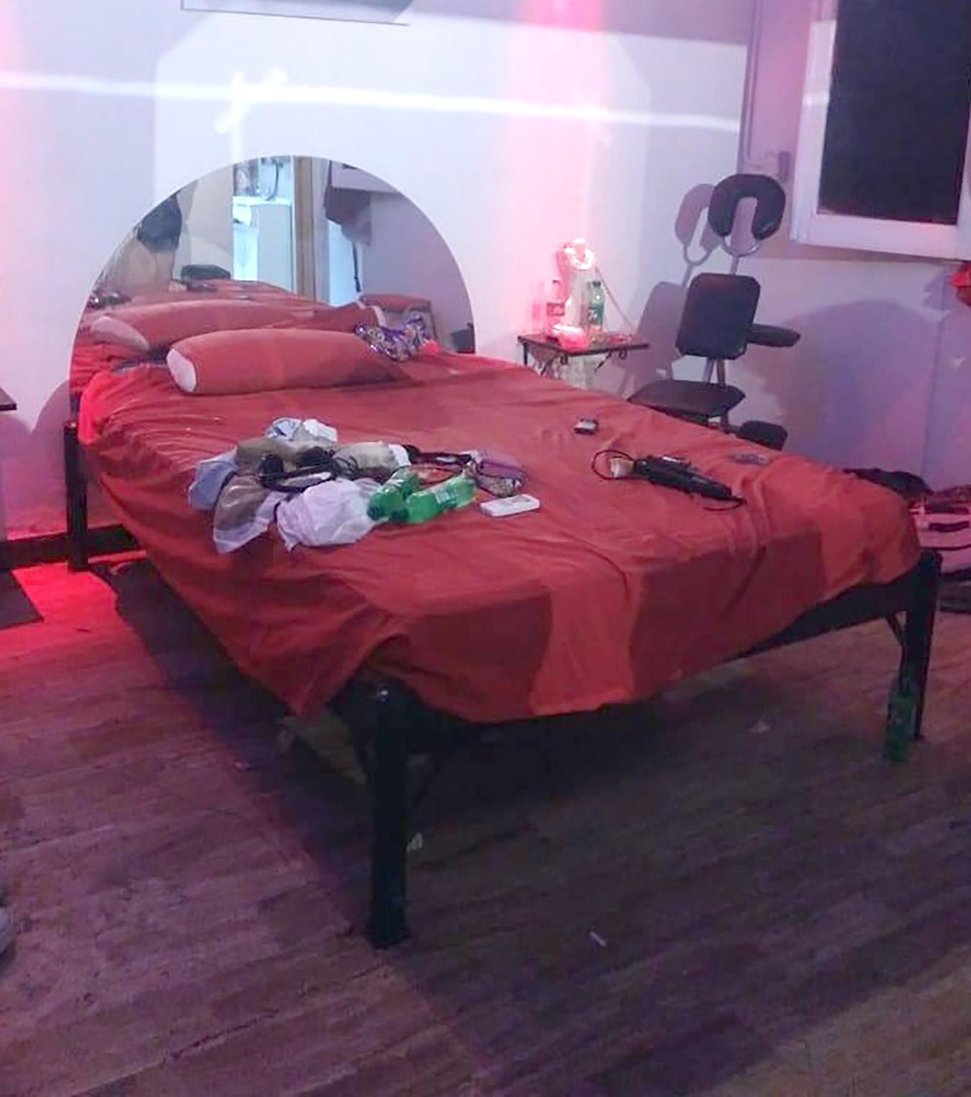 Así era la habitación de uno de los prostíbulos