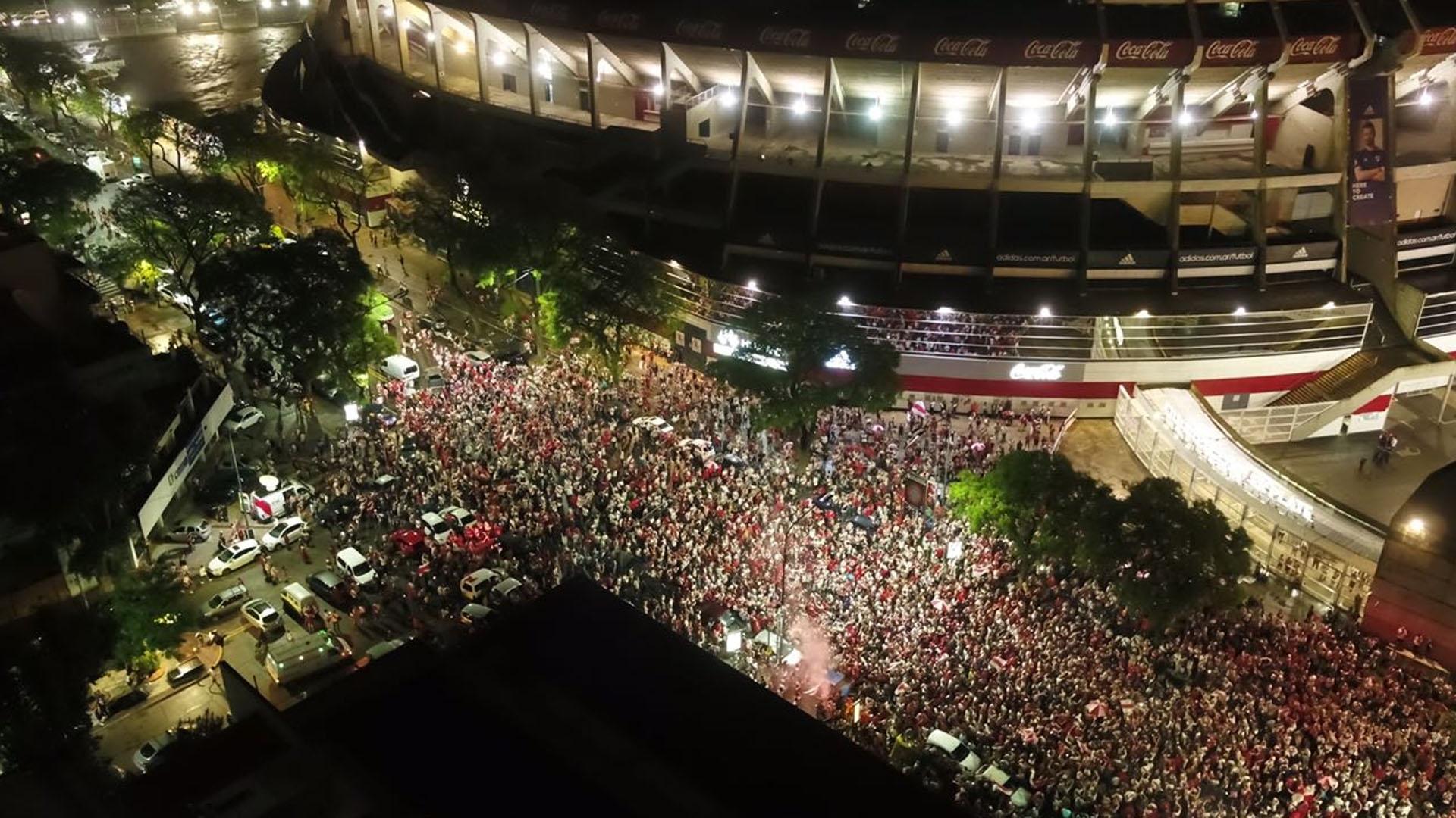 Los festejos en el Monumental, desde el drone de Infobae