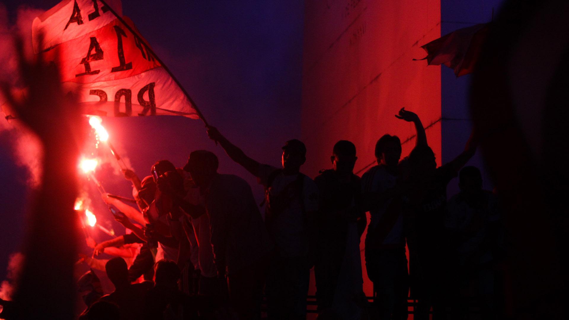 El Obelisco y los colores del campeón (Foto: Matías Baglieto)