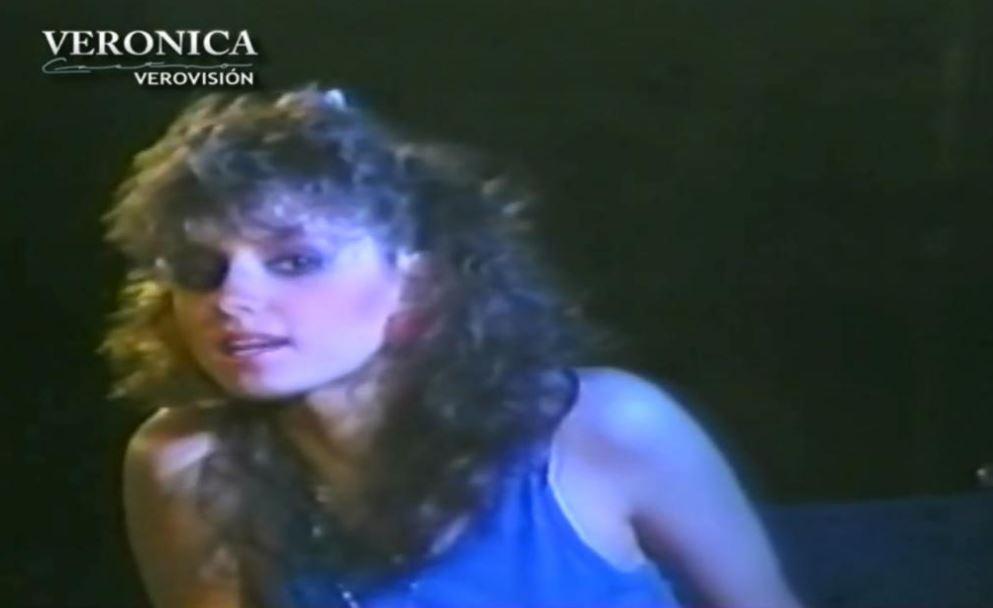 Angélica Rivera debutó en los medios gracias a Verónica Castro (Foto: YouTube Verovisión)