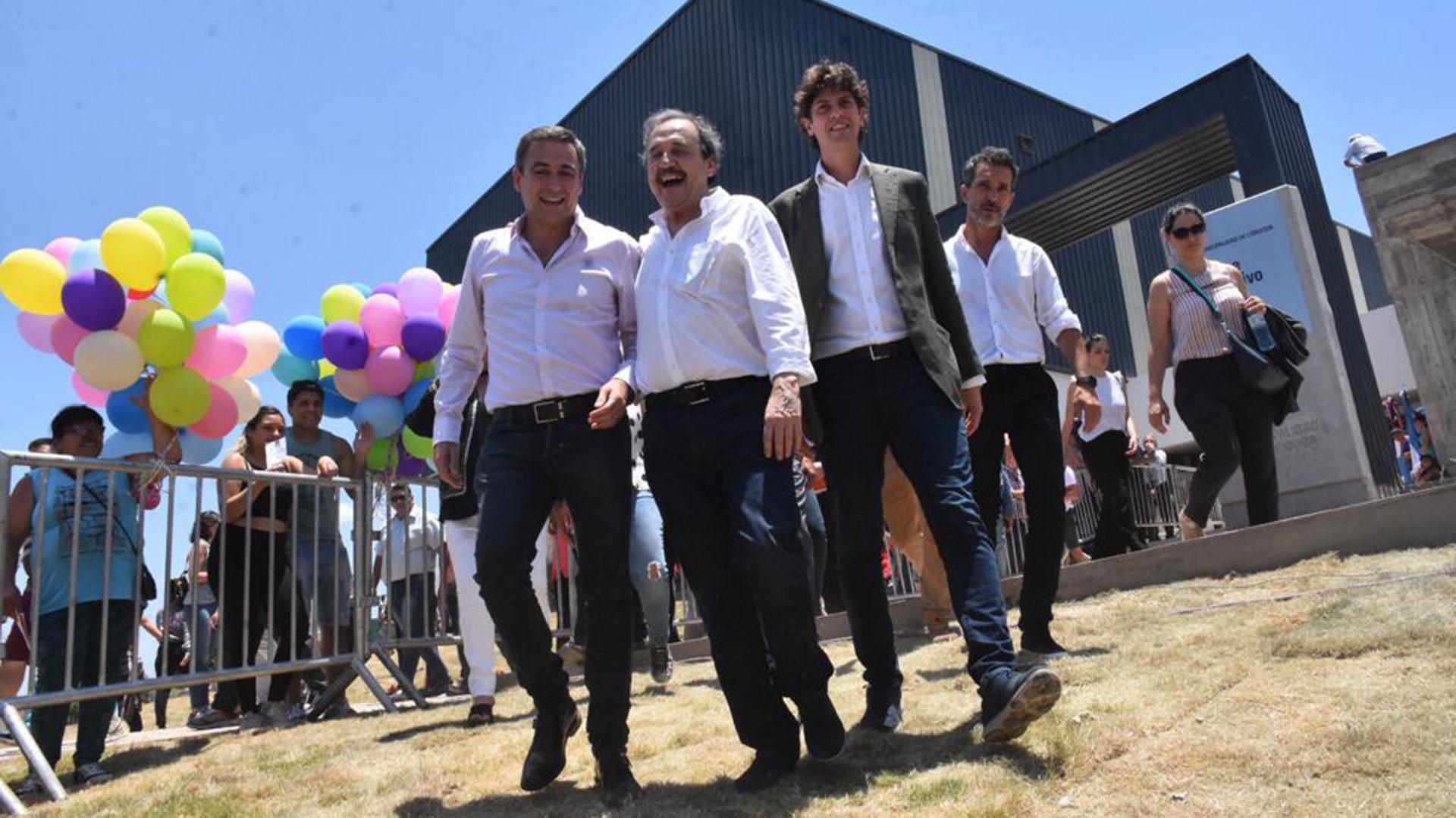 Ramón Mestre, un radical crítico al Gobierno, junto a Ricardo Alfonsín y Martín Lousteau