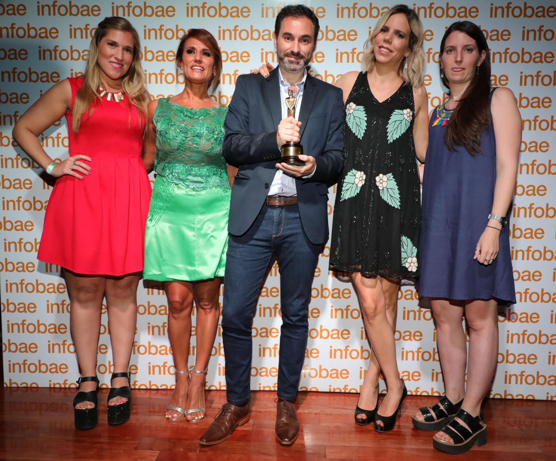 Teleshow obtuvo el premio Martín Fierro Digital 2018 en el rubro mejor portal de espectáculos (Christian Bochichio)
