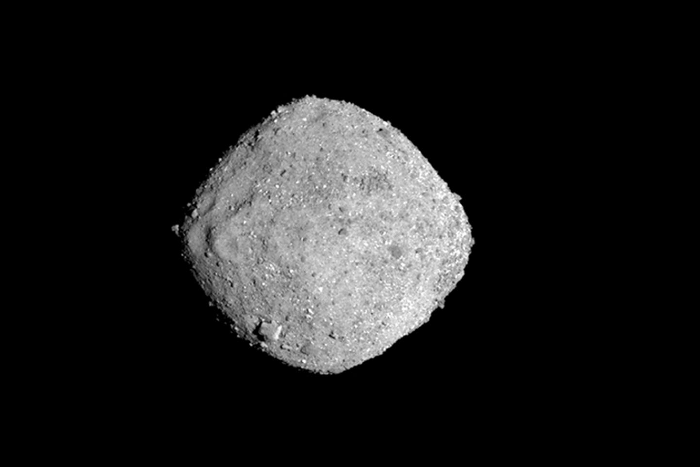 El asteroide Bennu en una foto difundida por NASA (NASA/Goddard/University of Arizona via AP)