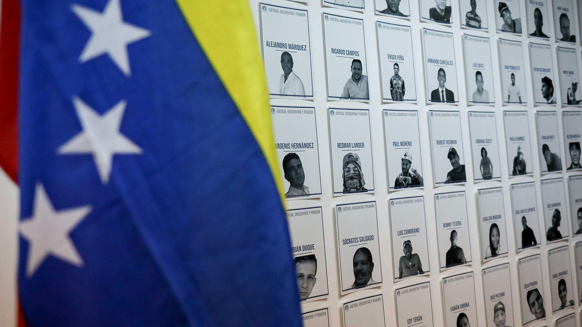 La exposición sobre torturas, asesinatos y presos políticos (EFE)