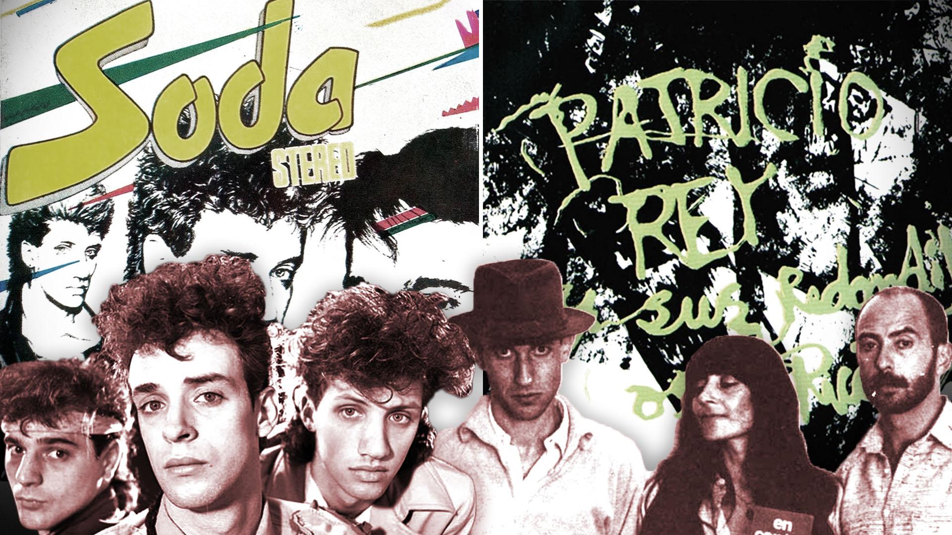 Las portadas de los discos debut de Soda Stereo y Los Redondos