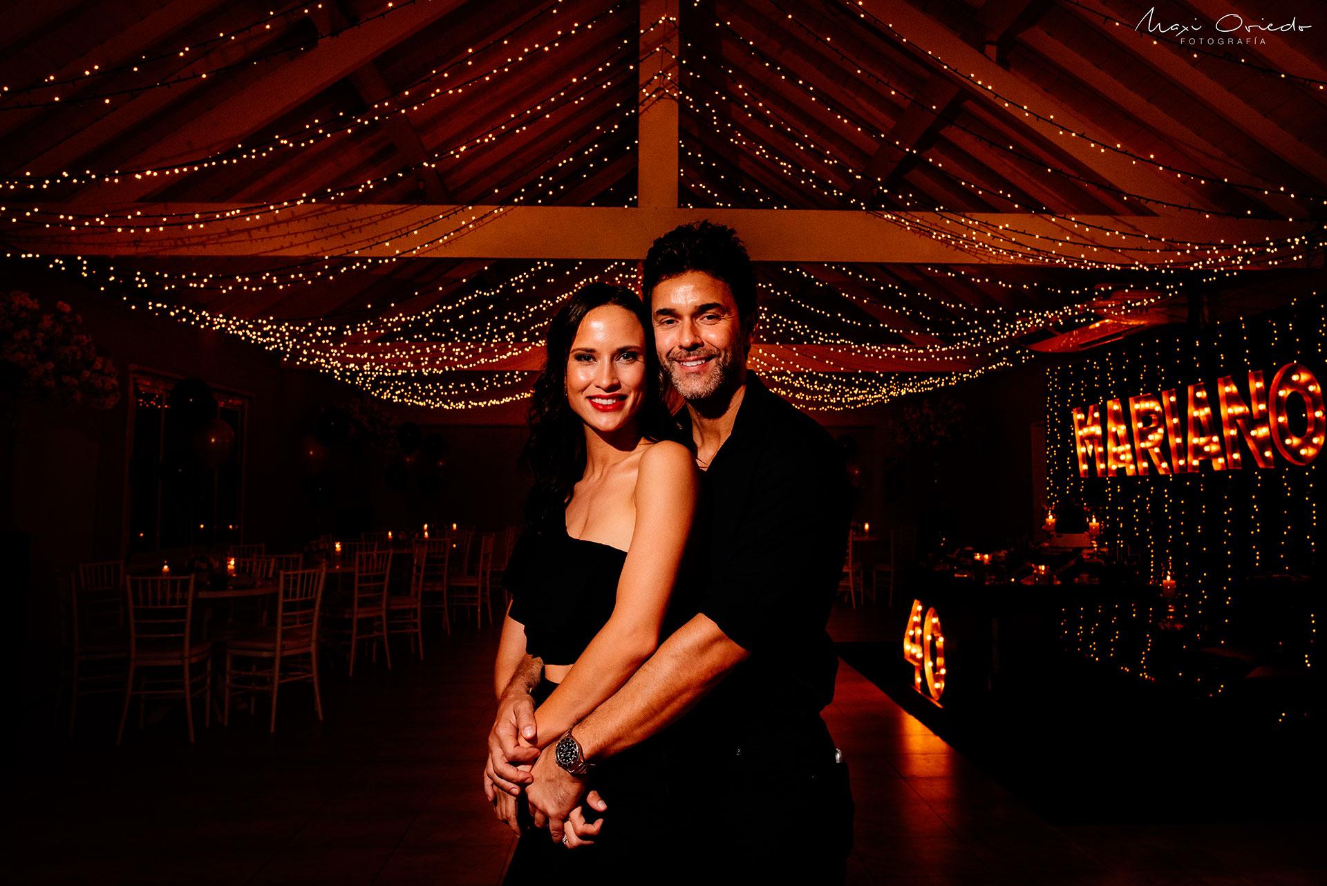 Mariano y Camila felices.