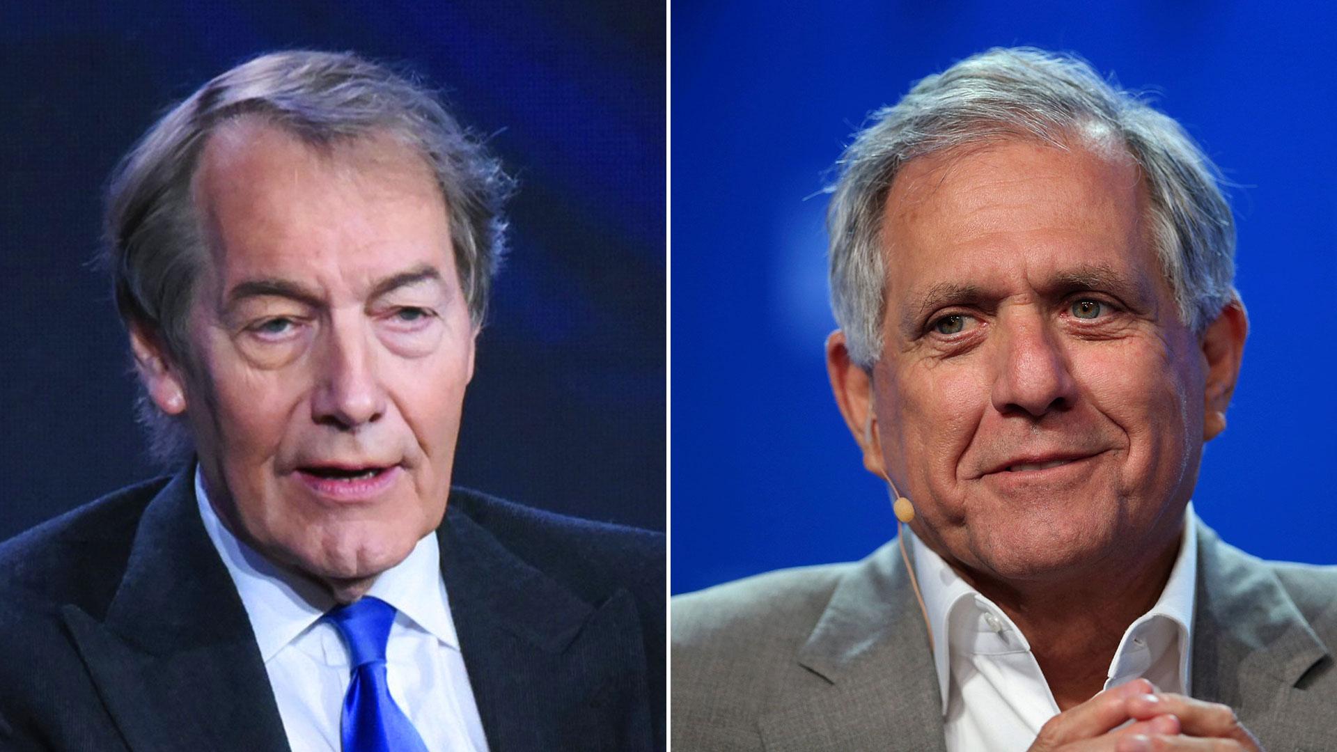 Charlie Rose y el presidente del grupo CBS, Leslie Moonves, fueron echados por acusaciones por acoso sexual